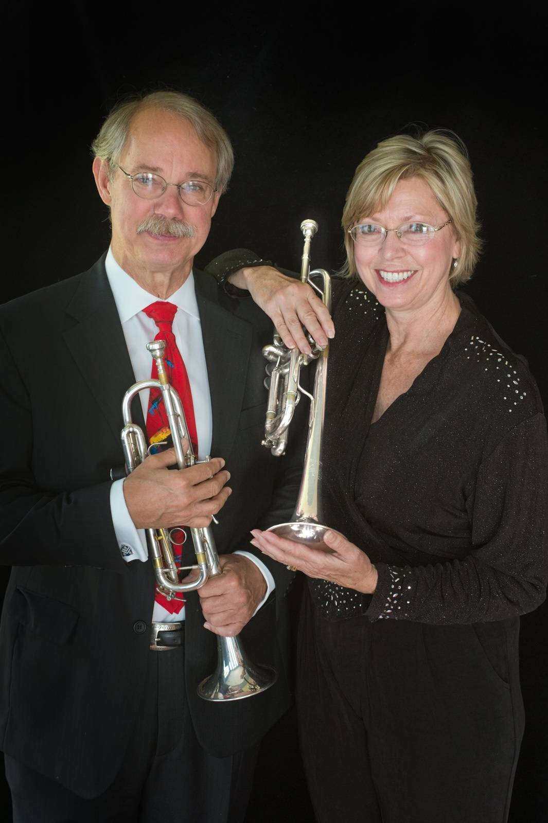 Trumpet Duo Charles Geyer and Barbara Butler
