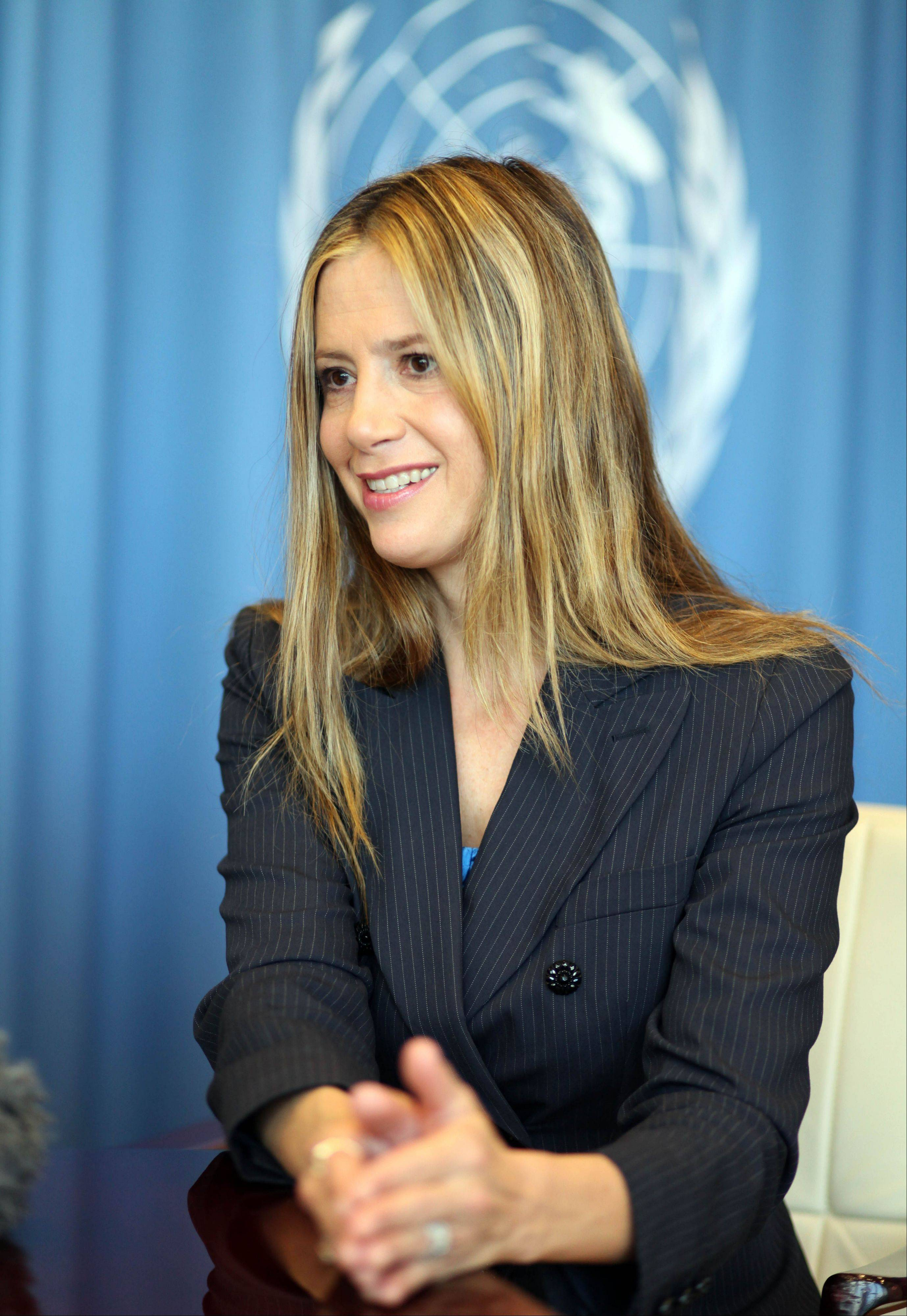 "Actress Mira Sorvino, a UN Goodwill Ambassador to combat human trafficking for the United Nations Office on Drugs and Crime, describes her advocacy against human trafficking and modern-day slavery as ""my calling."""