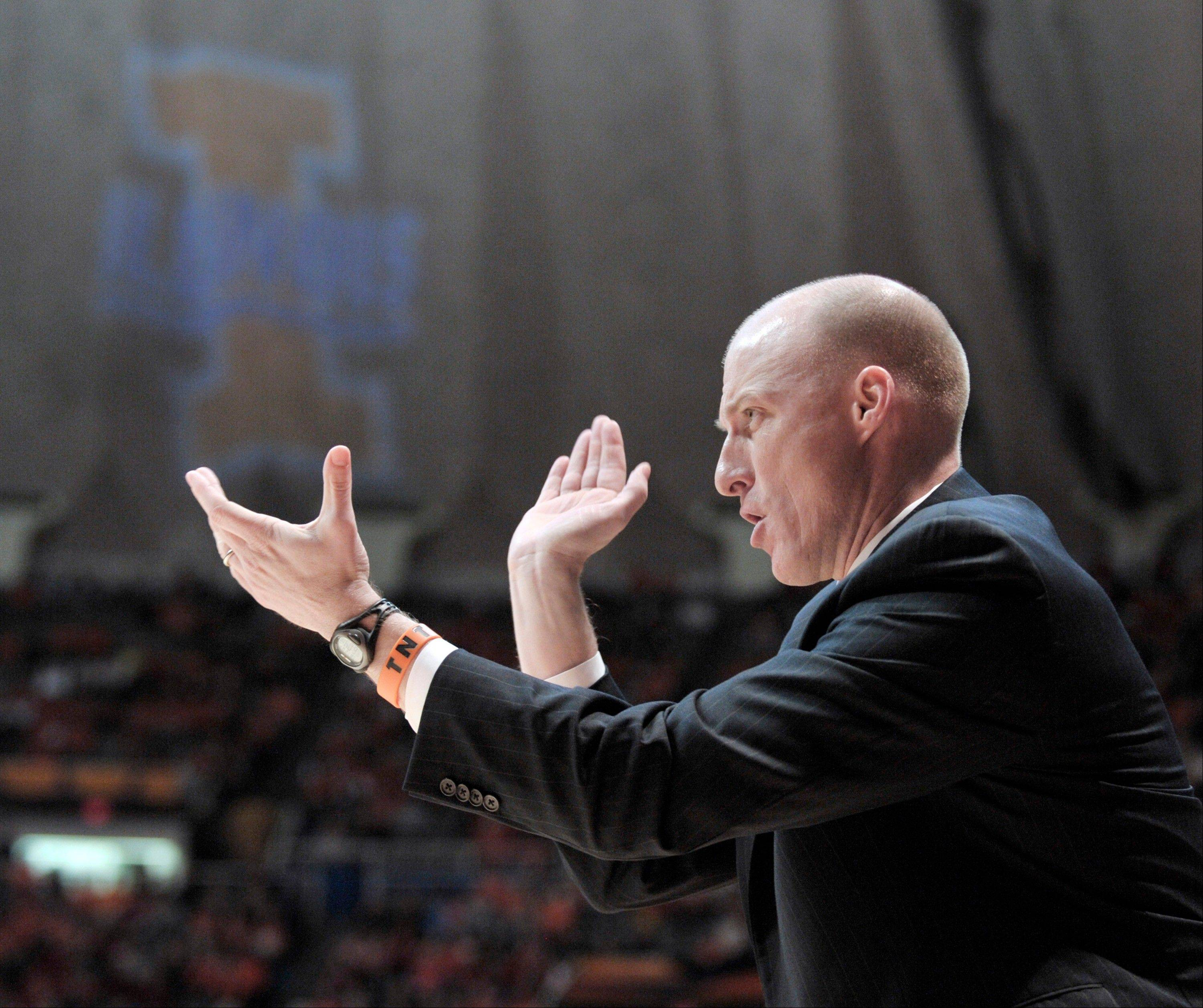 Illinois coach John Groce liked what he saw Thursday from his basketball team at Assembly Hall. Illinois beat No. 1 Indiana 74-72.