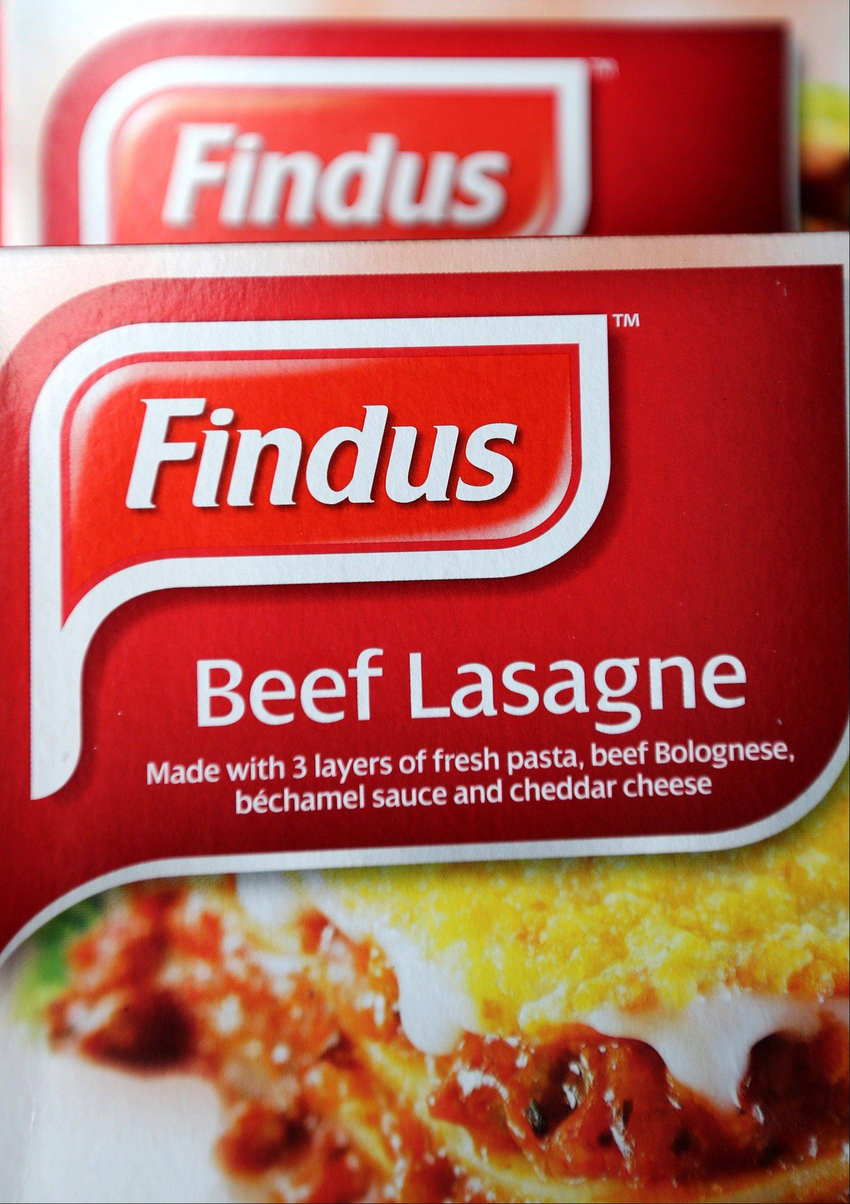 A general view of Findus Beef Lasagne Sitting Friday in a freezer of a local shop in Jarrow, England.
