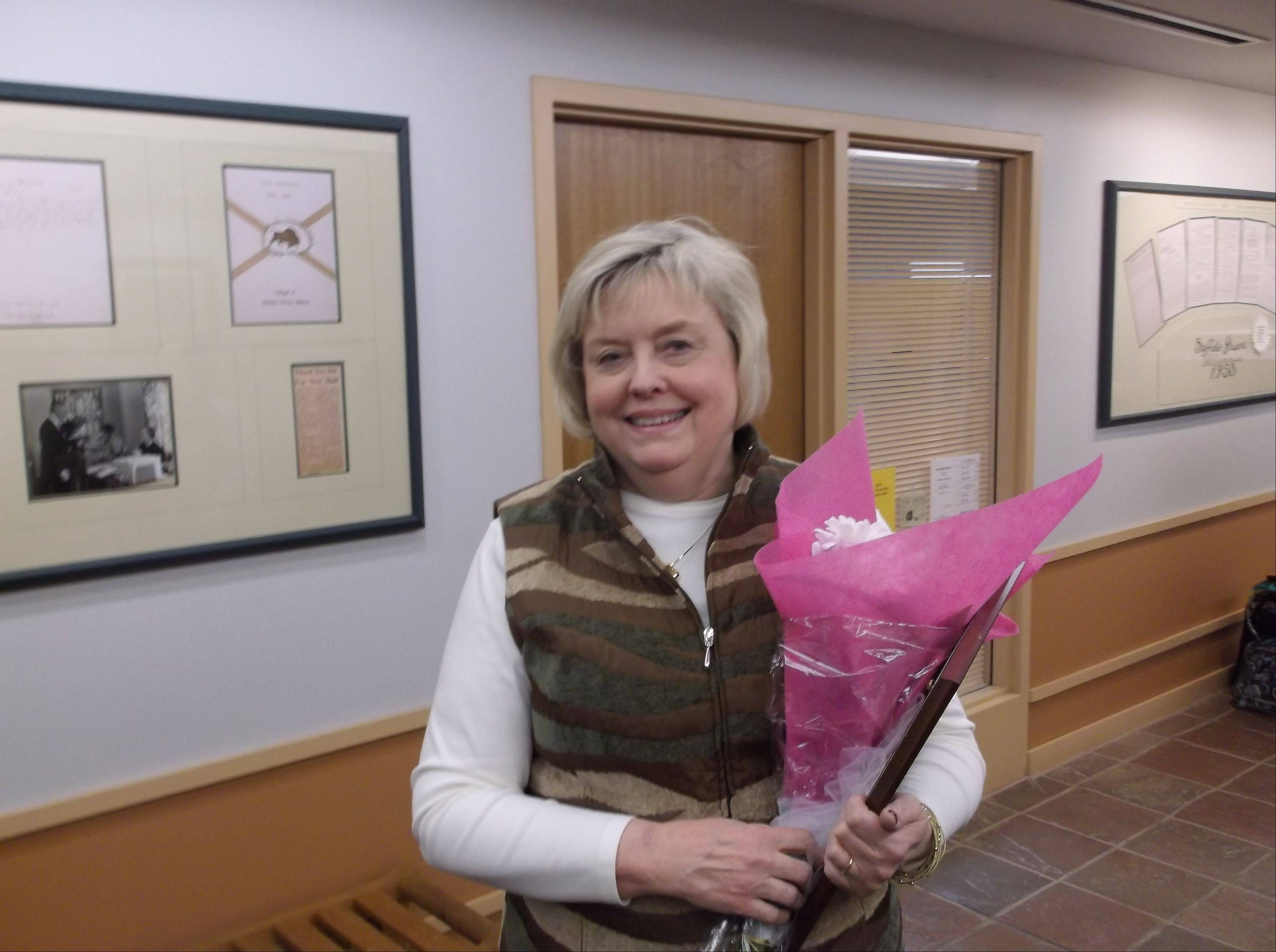 Buffalo Grove Deputy Village Clerk Jane Olson was honored at this week's village board meeting for her 25 years in the job. She's retiring in March.