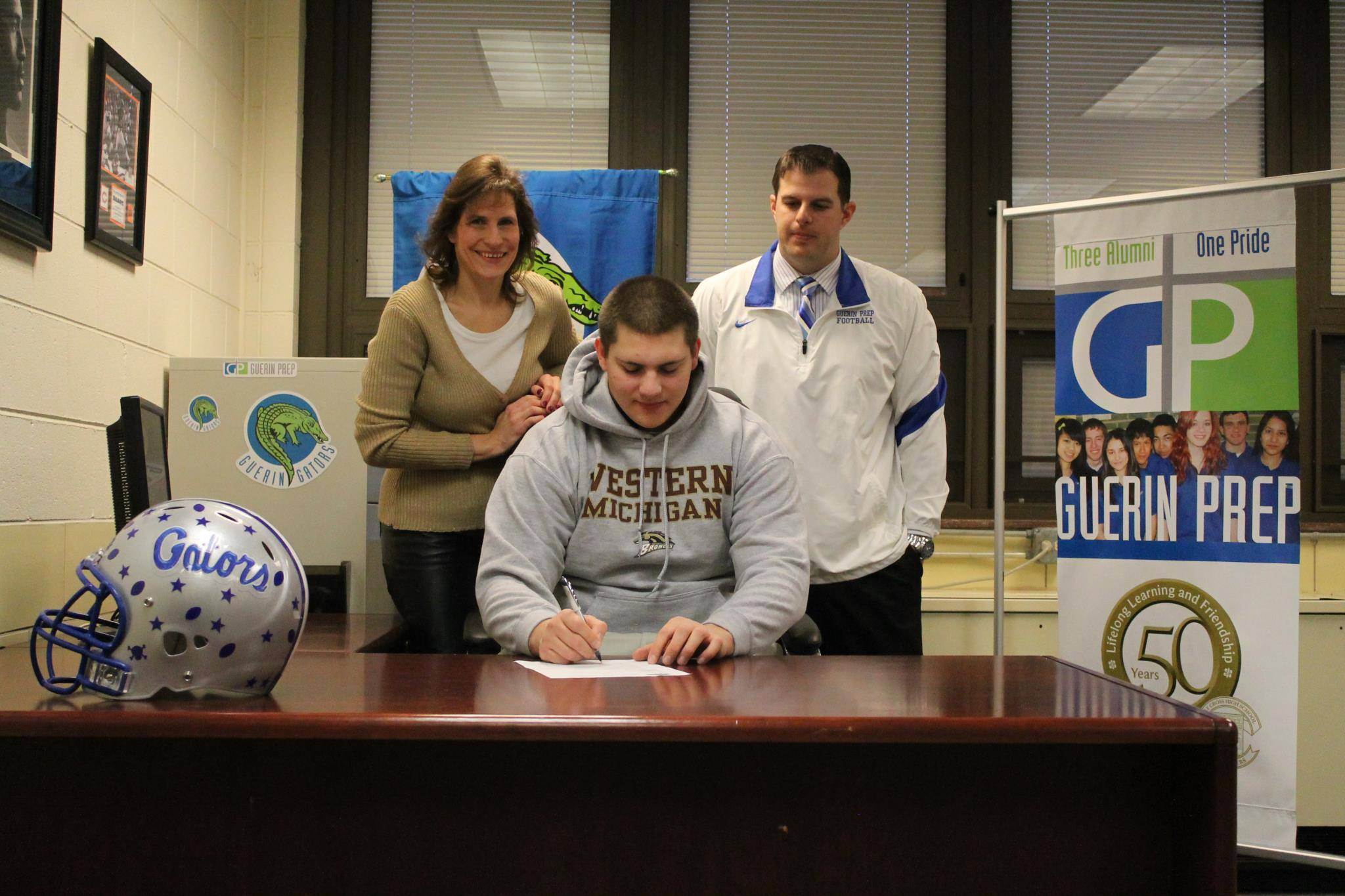 Guerin Prep senior Kristof Ifkovits signs his Letter of Intent to play Division 1 football at Western Michigan University.