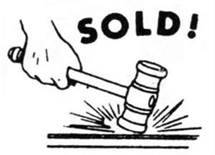 text: Sold / image auction gavel