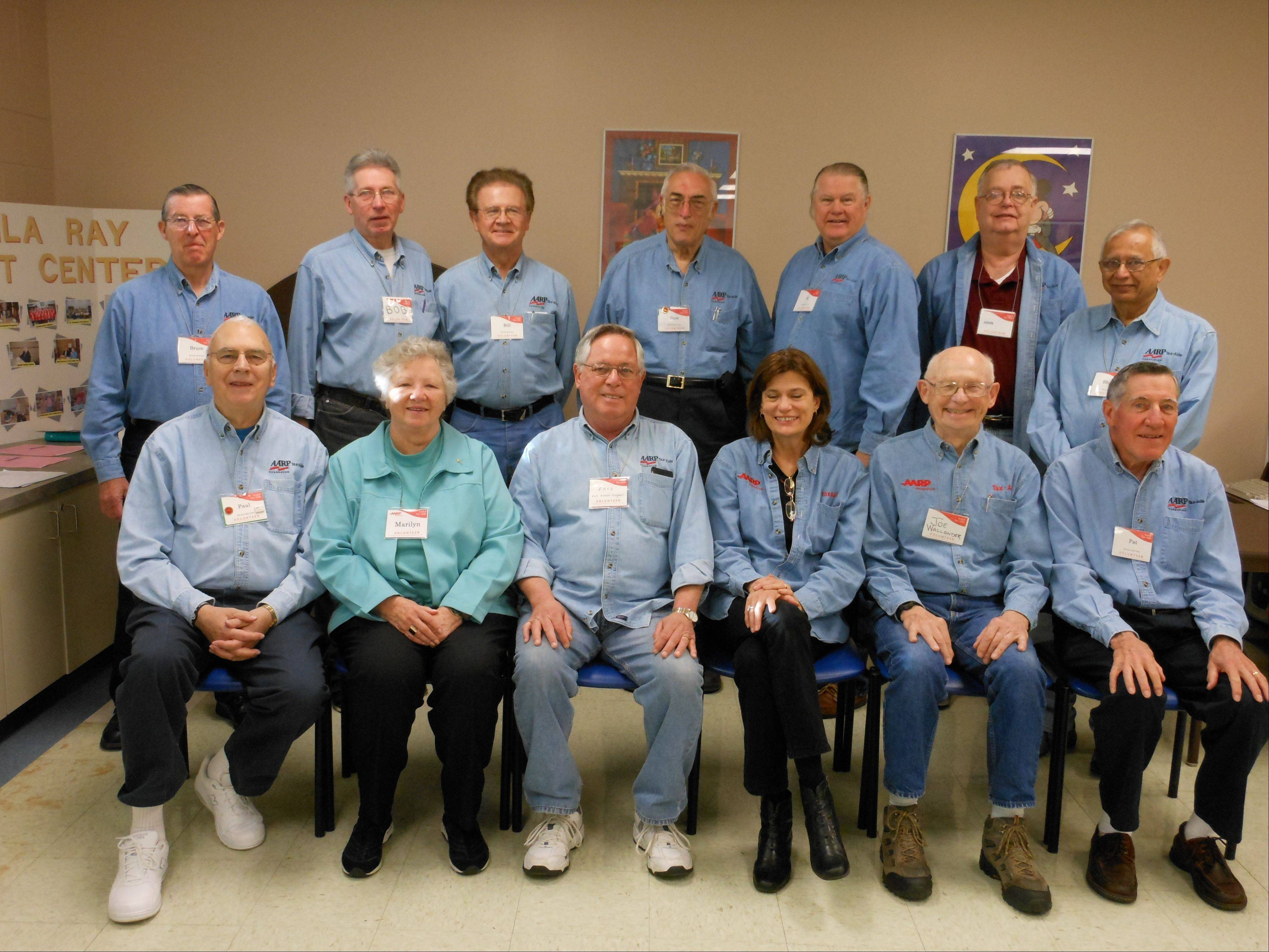The Elk Grove Village 2012 IRS-AARP Tax Aide Service volunteers.