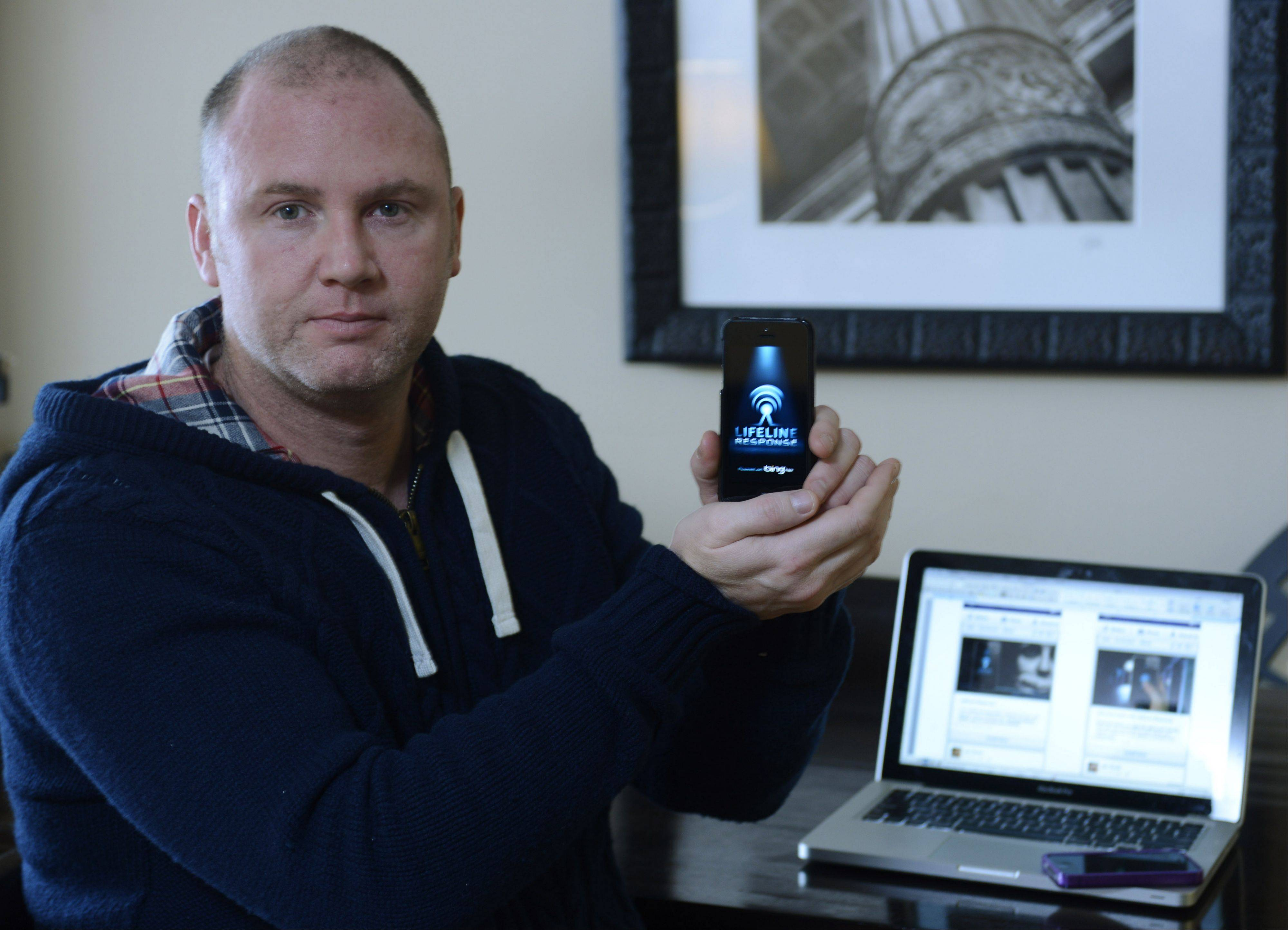 Peter Cahill of Arlington Heights has developed a personal security smartphone app, and he�s hoping to donate a year�s worth of service to families in Barrington Unit District 220, where his own niece was threatened by �stranger danger� less than a year ago.