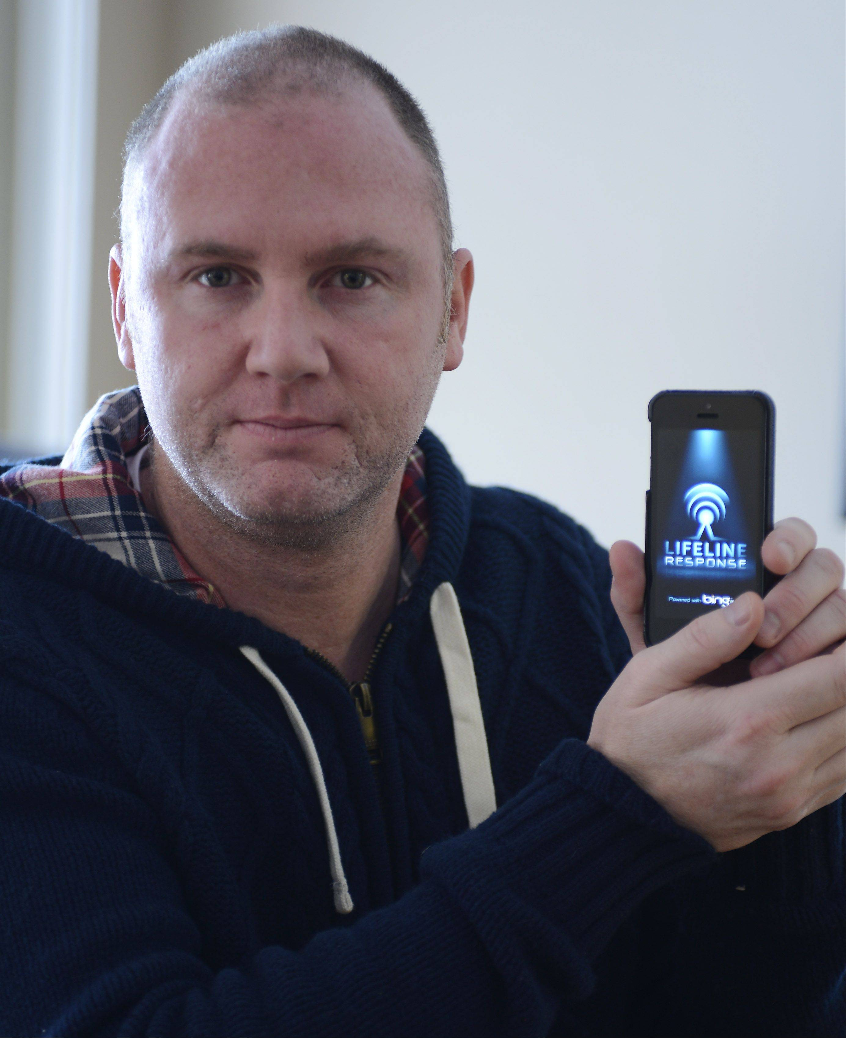 Peter Cahill of Arlington Heights has developed a personal security smartphone app.