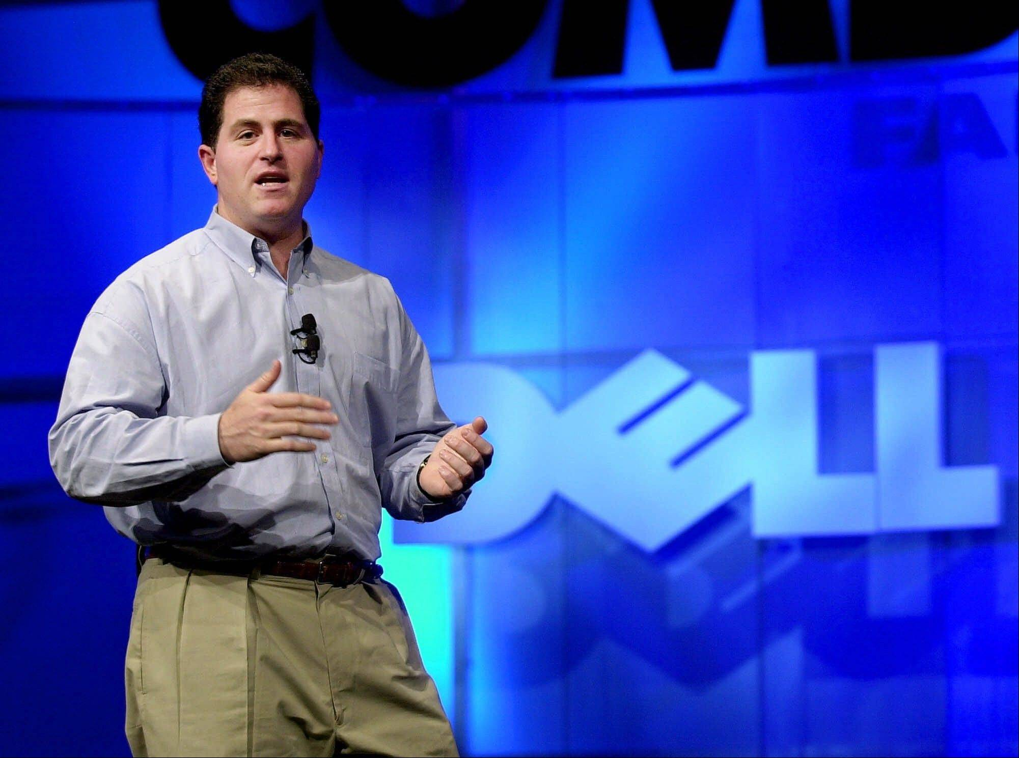 Michael Dell, Chairman and CEO of Dell, speaks during his keynote address at Comdex, in Las Vegas. It's easy to forget now, but Michael Dell was the Mark Zuckerberg of his time. Hailed as a young genius, he created the inexpensive, made-to-order personal computer in his dorm room and peddled it to the masses, but now the PC is being eclipsed by smartphones and tablet computers, and Dell is trying to save his company.