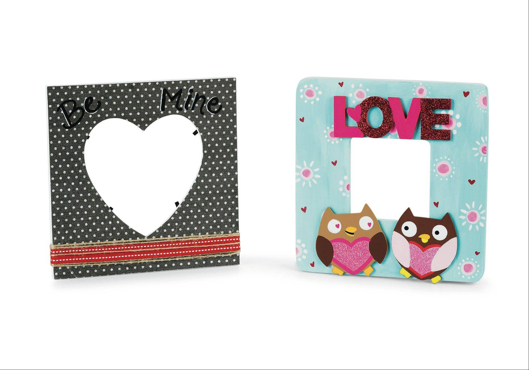 Valentine frames, available at Michaels, can make for a beautiful personalized gift.