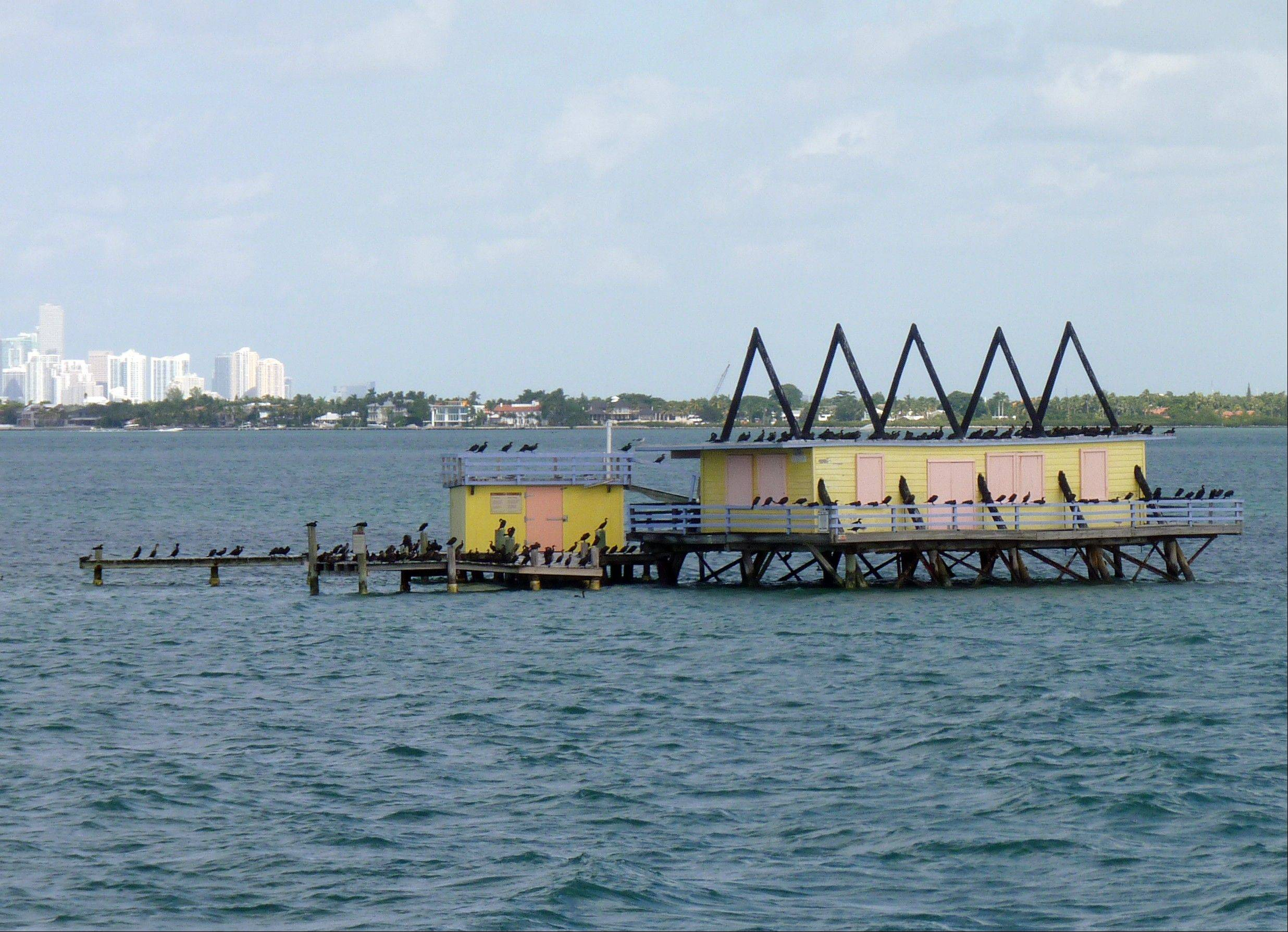 One of the seven Stiltsville homes near Miami. The narrated tour tells the colorful story of these homes perched above the shallow waters of Biscayne Bay.
