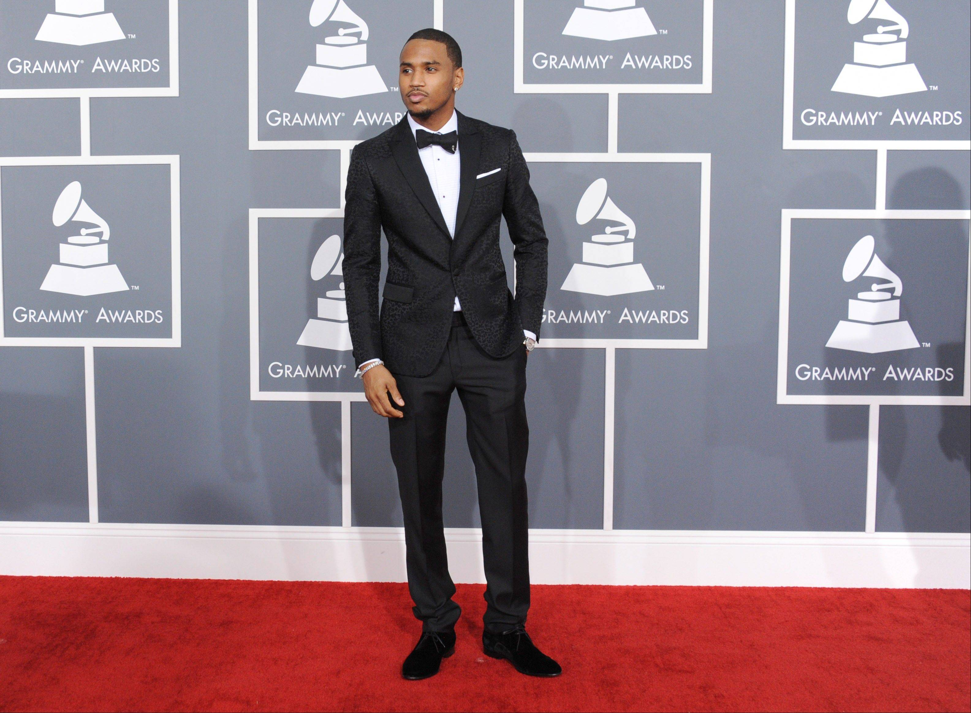 MusicianTrey Songz arrives at the 55th annual Grammy Awards on Sunday, Feb. 10, 2013, in Los Angeles.