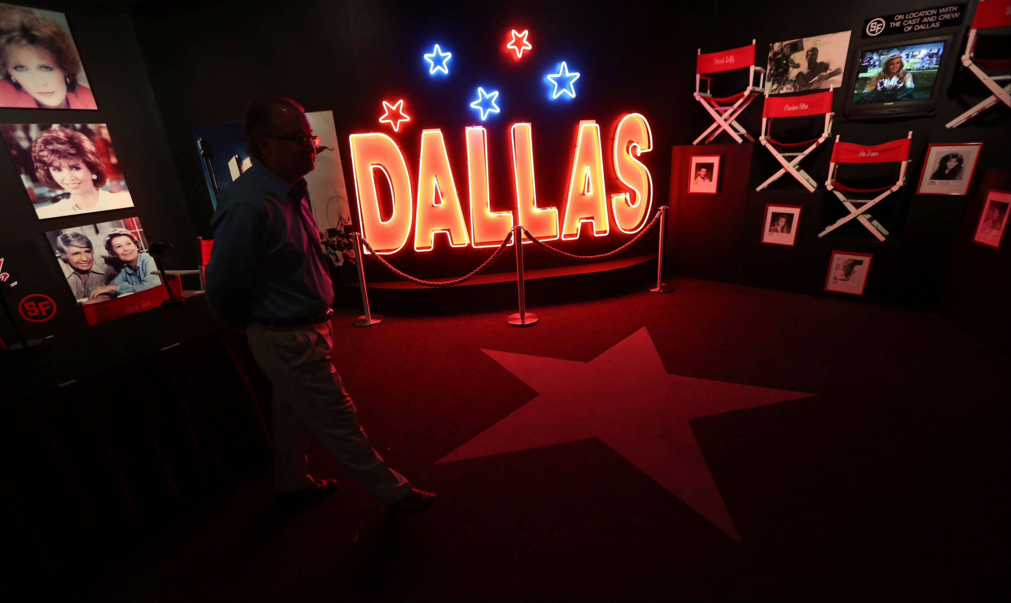 A tourist looks at the Dallas TV show museum at Southfork Ranch in Parker, Texas. Tourists have been flocking to Southfork Ranch since the early years of the classic series, which ran from 1978 to 1991.
