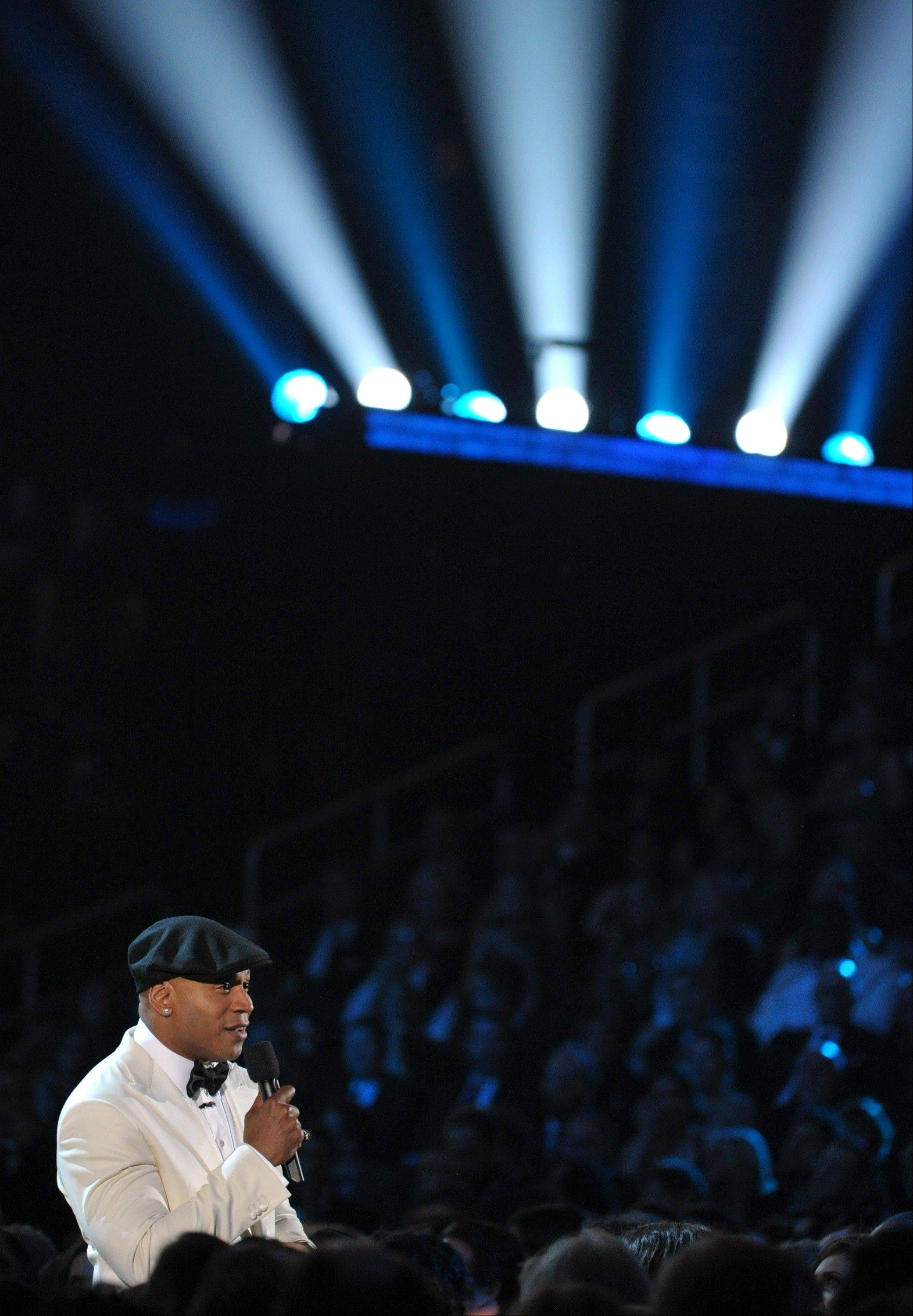 Host LL Cool J speaks during the 55th annual Grammy Awards on Sunday, Feb. 10, 2013, in Los Angeles.
