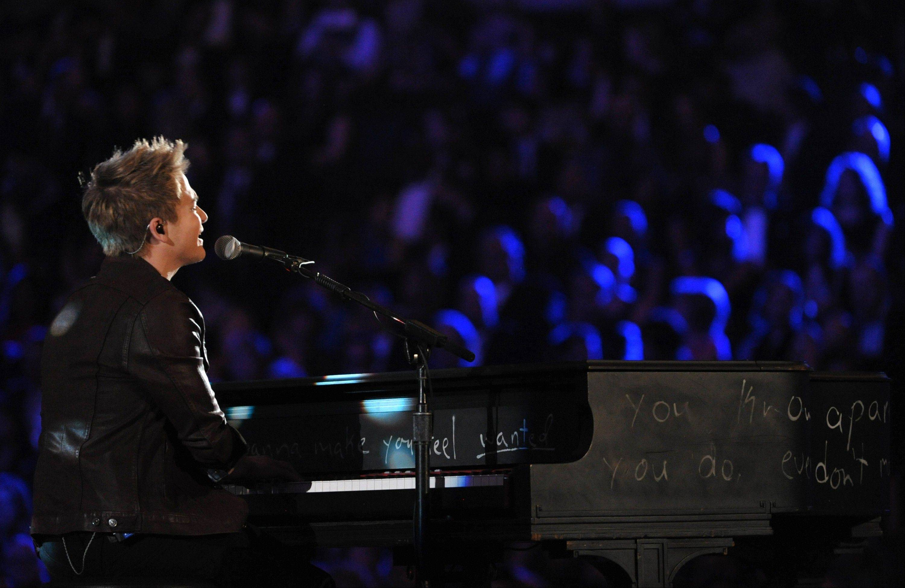 Hunter Hayes performs at the 55th annual Grammy Awards on Sunday, Feb. 10, 2013, in Los Angeles.