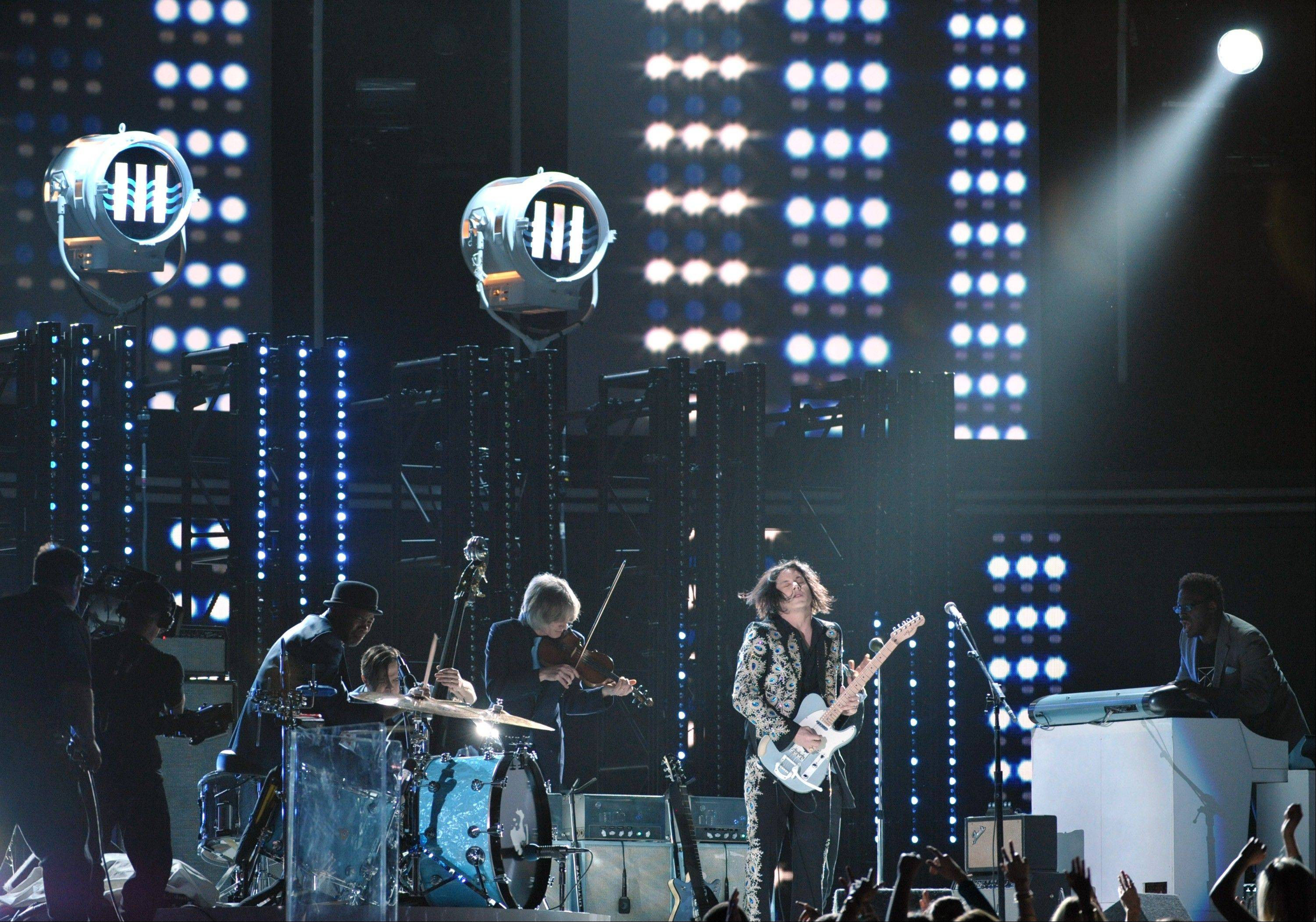 Jack White performs at the 55th annual Grammy Awards on Sunday, Feb. 10, 2013, in Los Angeles.