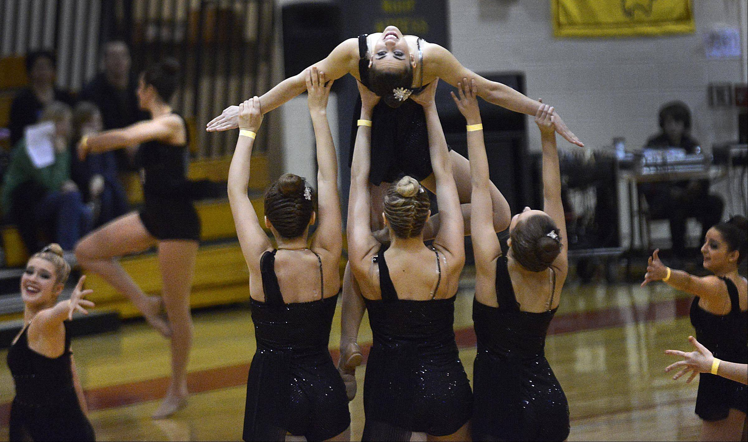The Geneva High School dance team performs in the Lyrical category Sunday during the Batavia High School Team Dance Illinois Dance Classic.