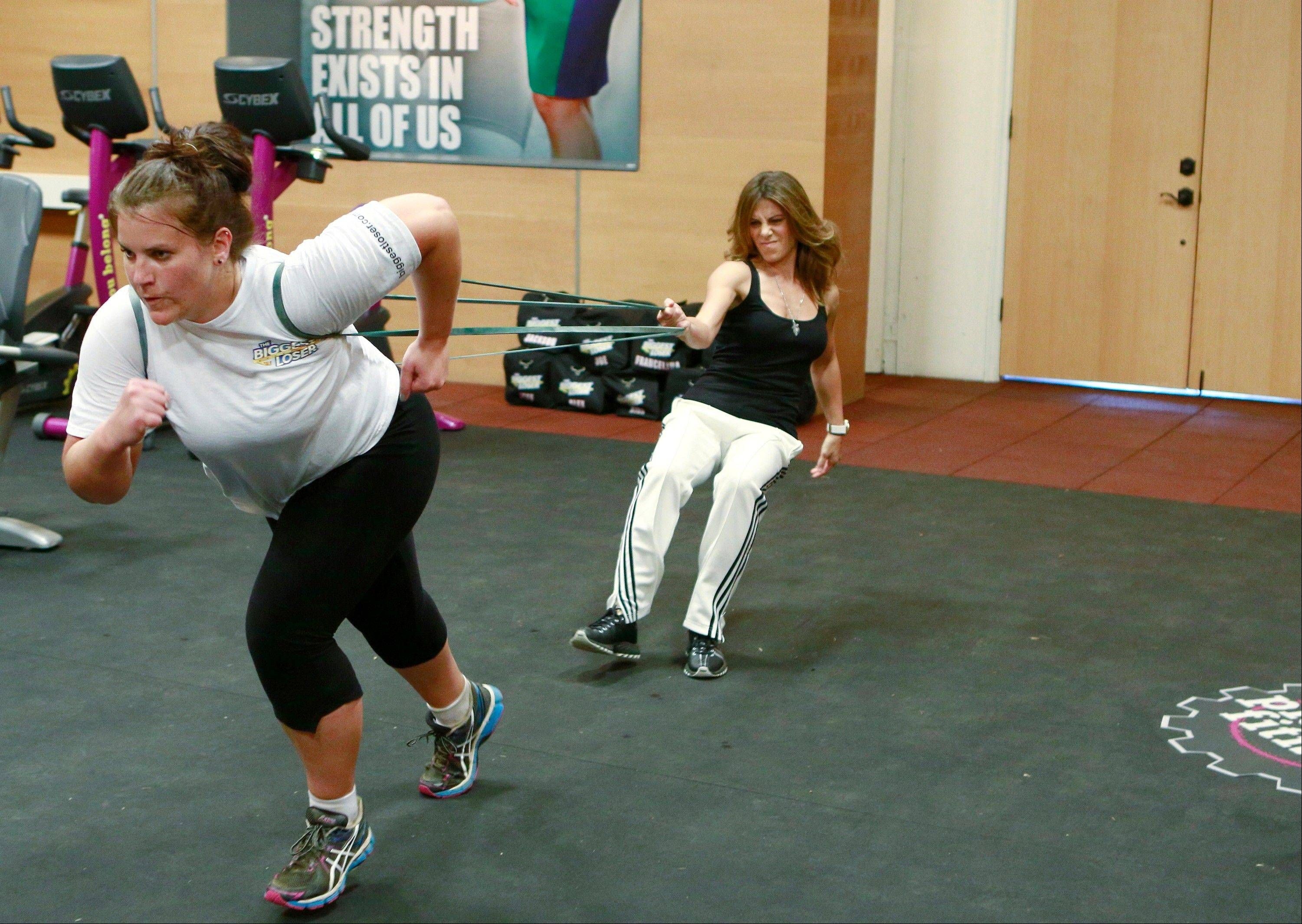 "Danni Allen works out with Jillian Michaels in ""The Biggest Loser"" episode shown Feb. 4. Another episode airs Monday."