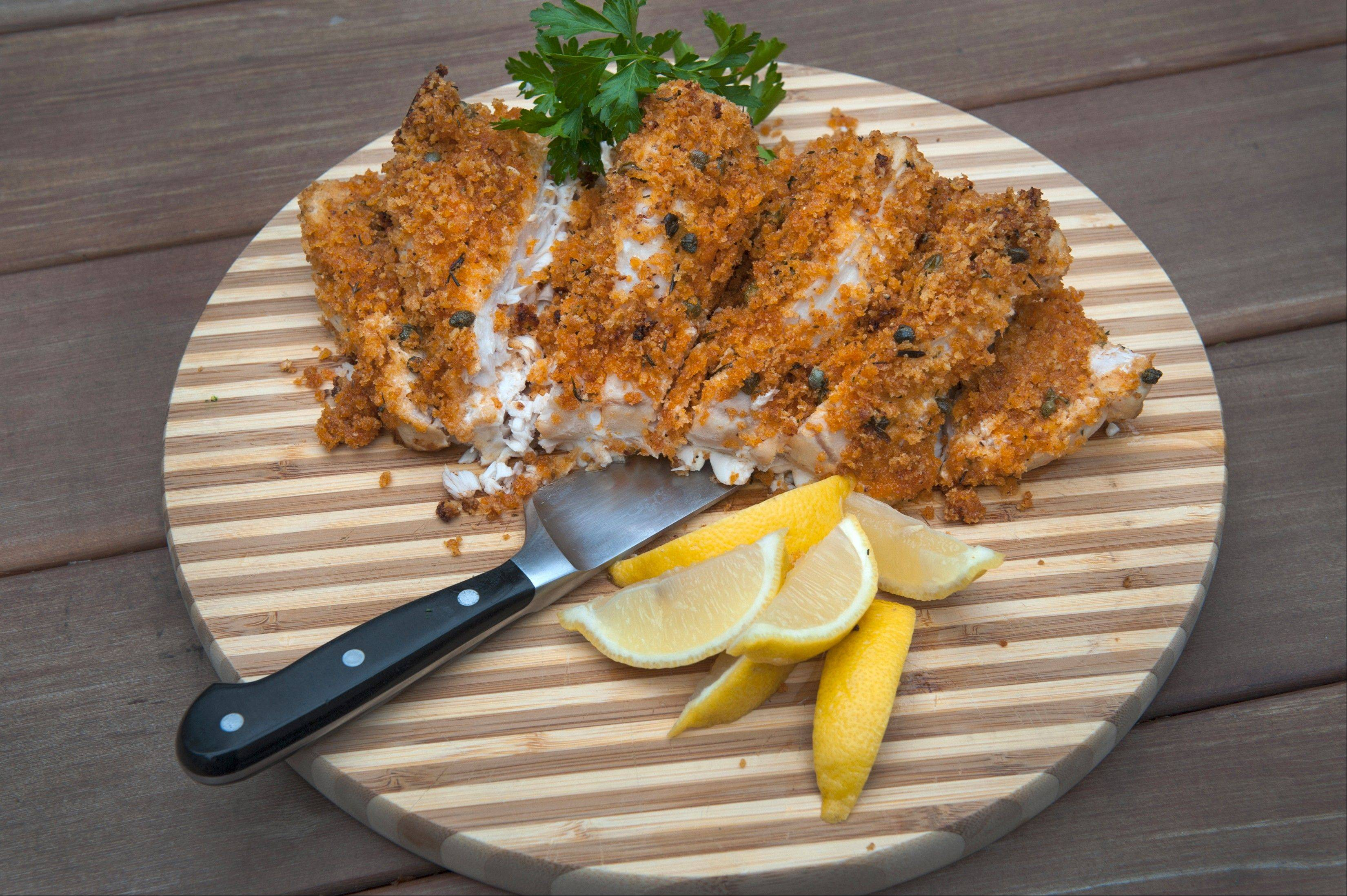 Panko-Stuffed Swordfish Roast
