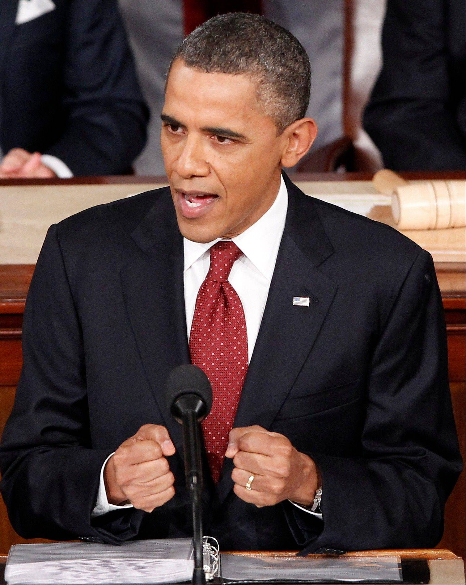 President Barack Obama delivers his State of the Union address on Capitol Hill Jan. 24, 2012. He is scheduled to deliver this year's address Tuesday.