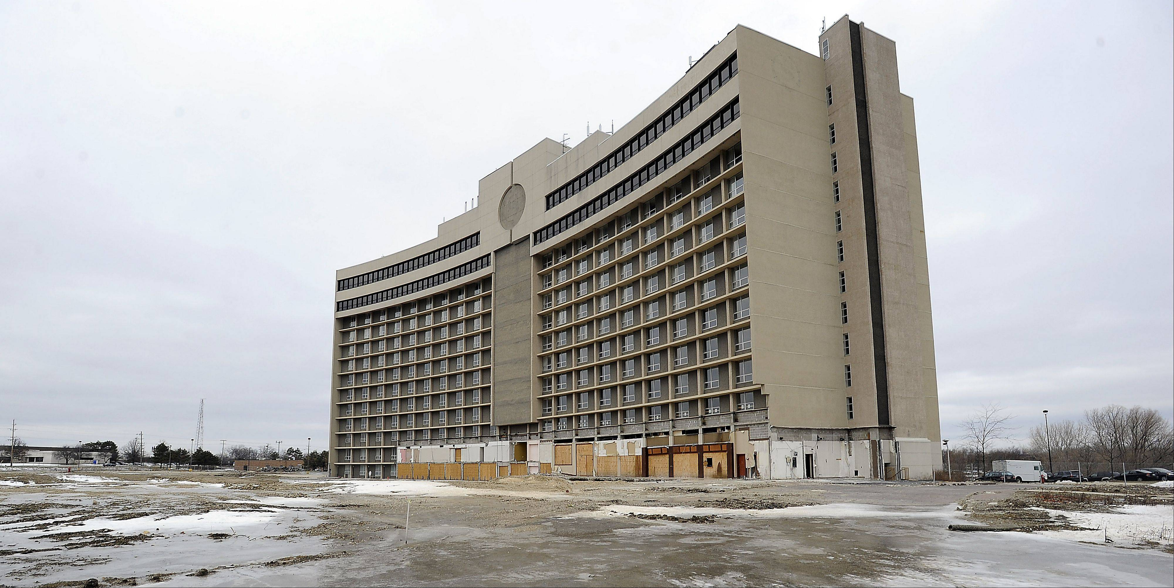Construction of phase one of the Arlington Downs project in the former Sheraton hotel near Arlington Park should get under way shortly, its developers say. The project is expected to include 214 apartments, a small hotel and water park, and retail and dining elements.