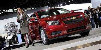 Chevrolet's 2014 Cruze Clean Turbo Diesel is one of multiple green cars on display at the Chicago Auto Show until Feb. 18.
