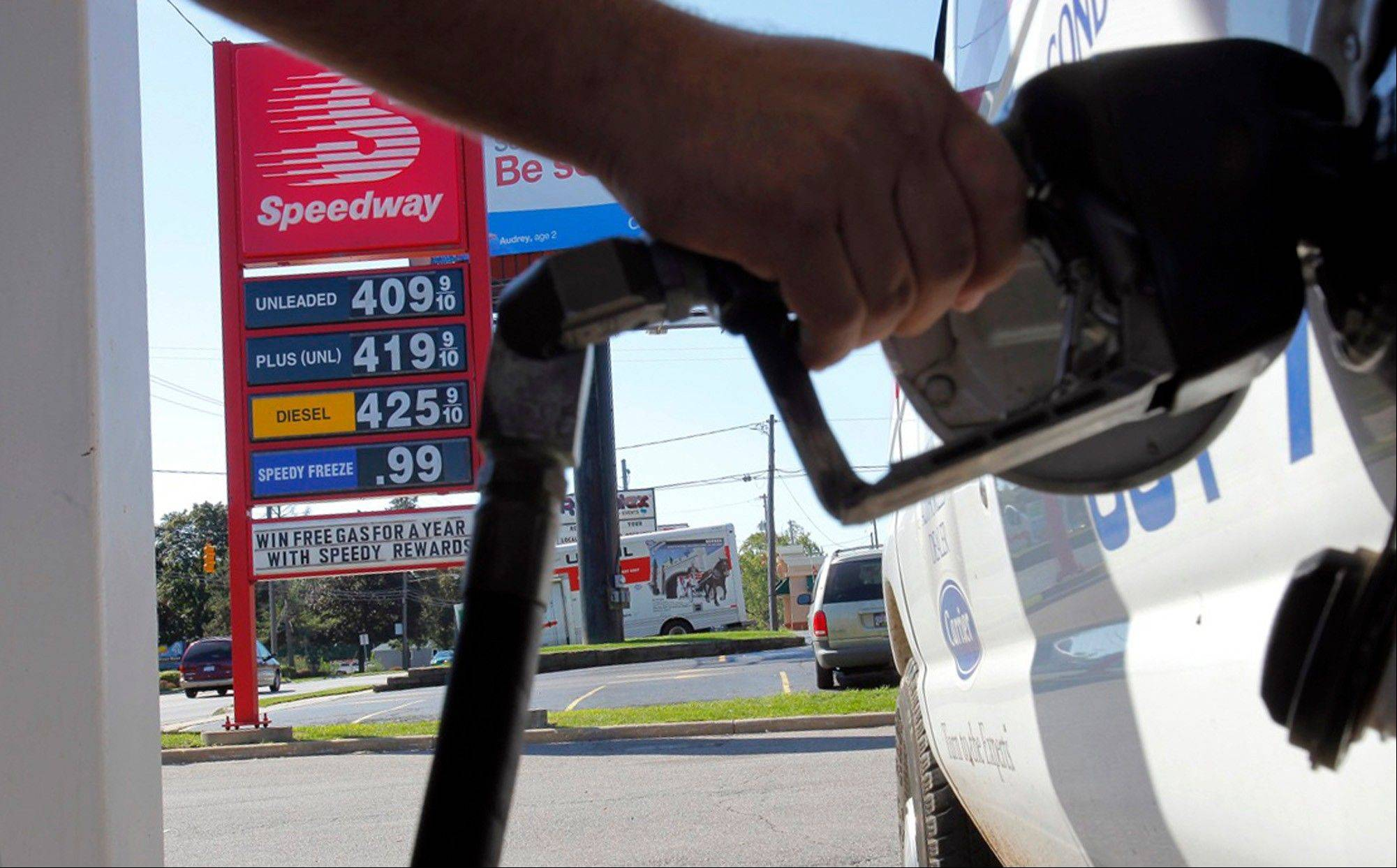 The government is boosting its forecast for gasoline prices this year following an 11 percent increase since the middle of December.