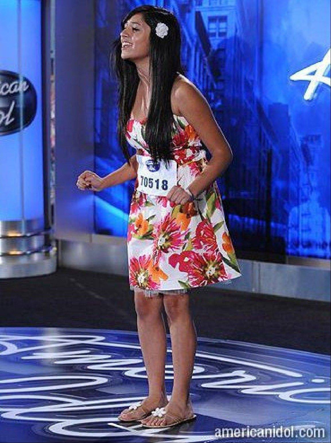 "Barrington High School senior Ashika Sachdev, of South Barrington, is pictured here auditioning for ""American Idol"" last season. She made it to the Hollywood round, and did so again this year."