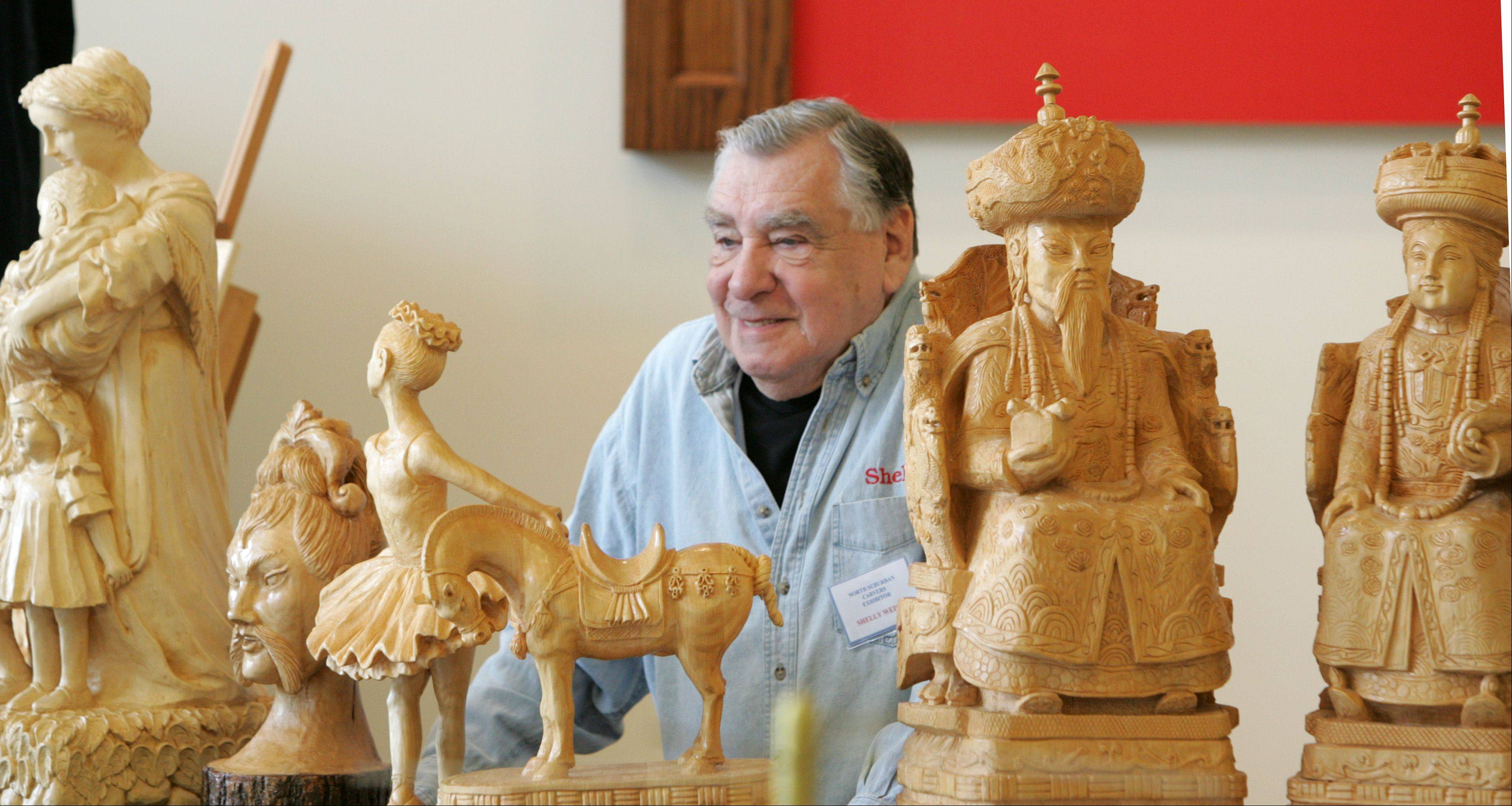 Shelly Weiser of Naperville shows his handcrafted artwork during a show at Cantigny Park. Weiser will show some of his work at the Winter Wood Wonders Show, set for Feb. 16-17 at the Kane County Fairgrounds, St. Charles.
