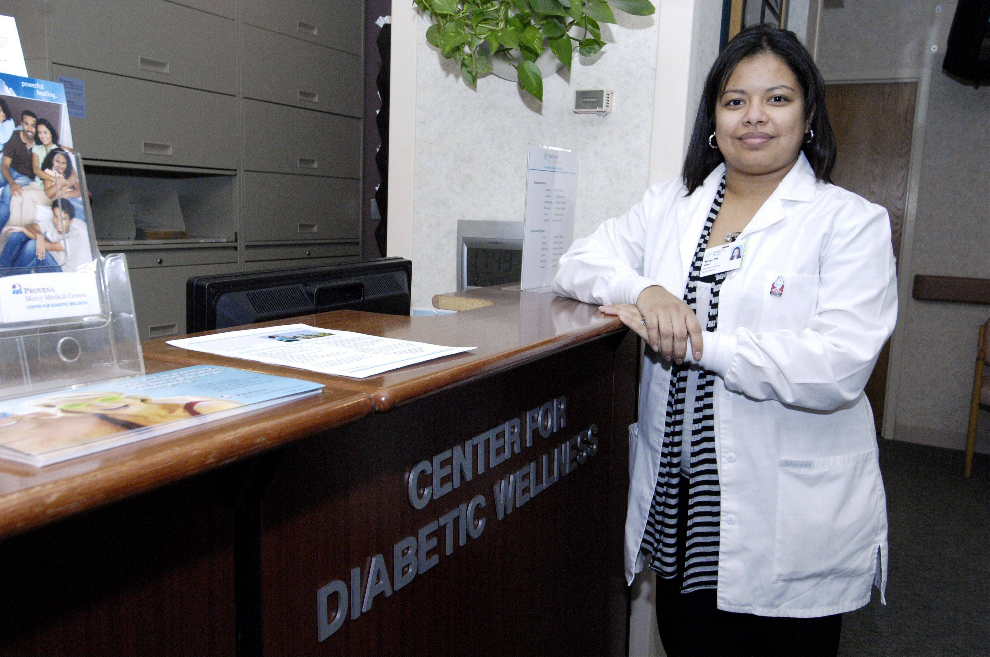 Maria Iniguez, clinical manager of the Center for Diabetic Wellness at Provena Mercy Medical Center, said if current trends of obesity continue, the American Diabetes Association predicts that one in three American adults could have diabetes by 2050.