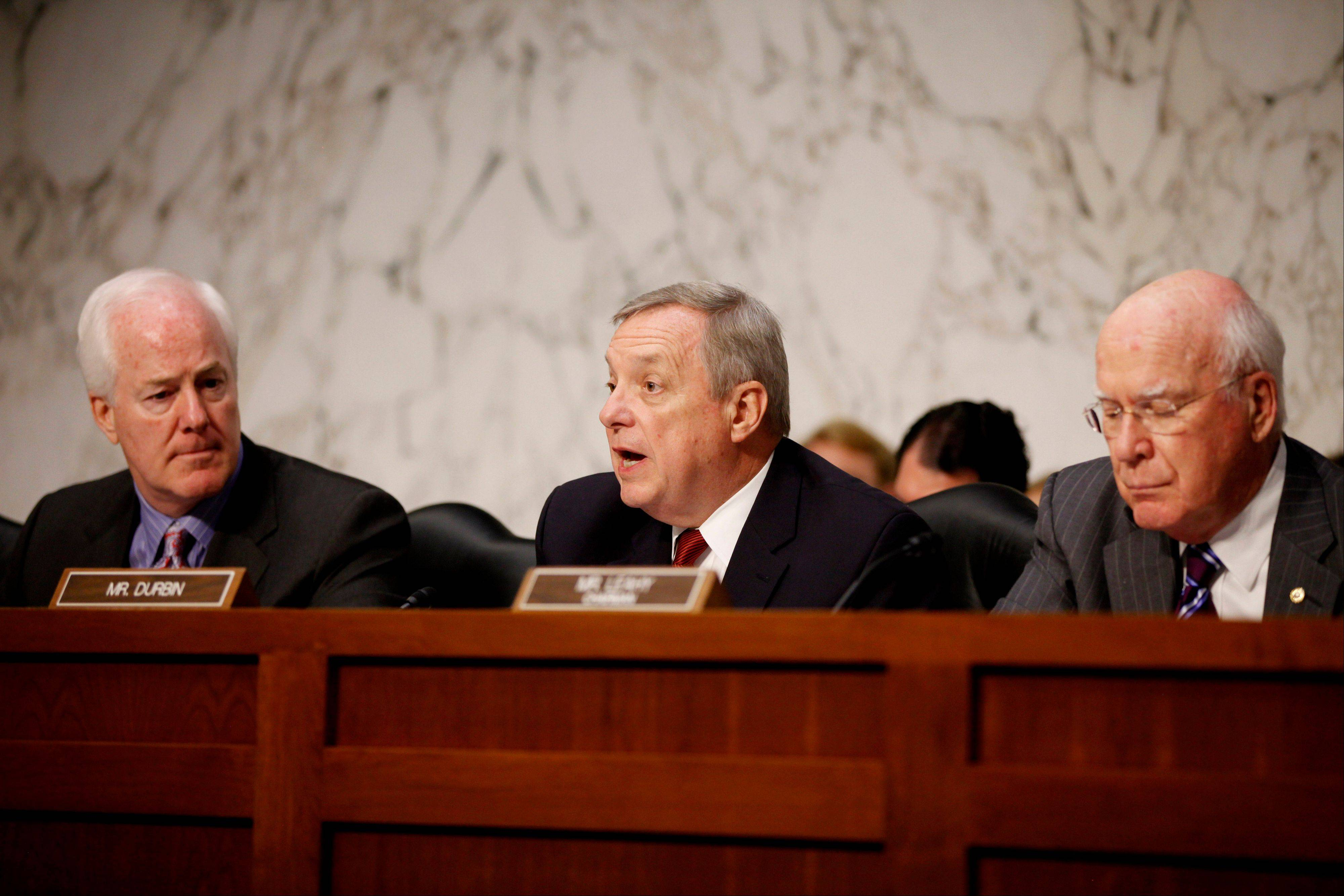 """We need to keep guns out of the hands of criminals and those who are mentally unstable,"" Sen. Richard Durbin, said in a brief interview Monday, Feb. 11, 2013. ""I hope everyone will acknowledge what within our Constitution is not only an individual right to bear arms, but the collective right of Americans to be safe."""