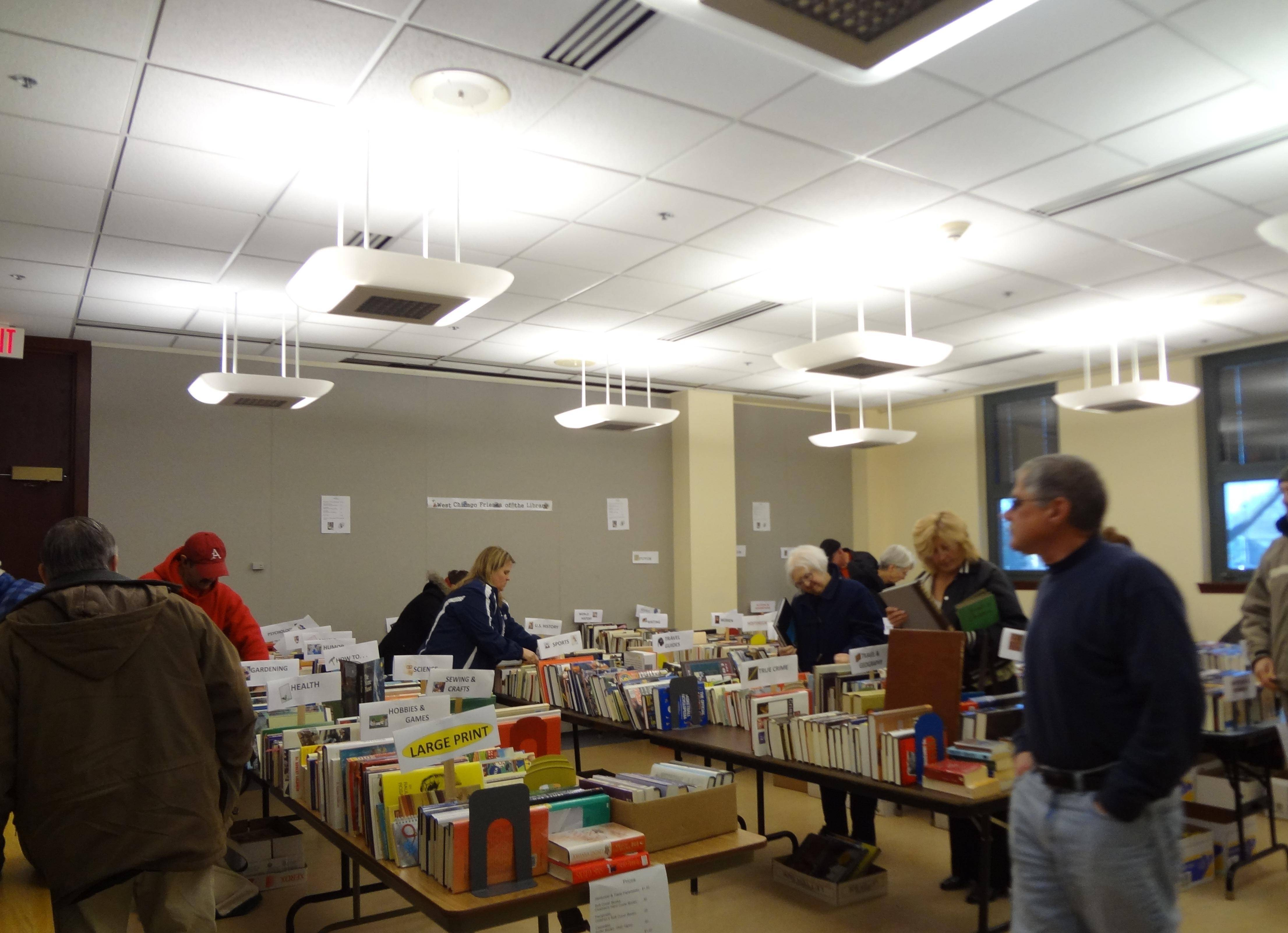 West Chicago Friends of the Library book sale in 2012