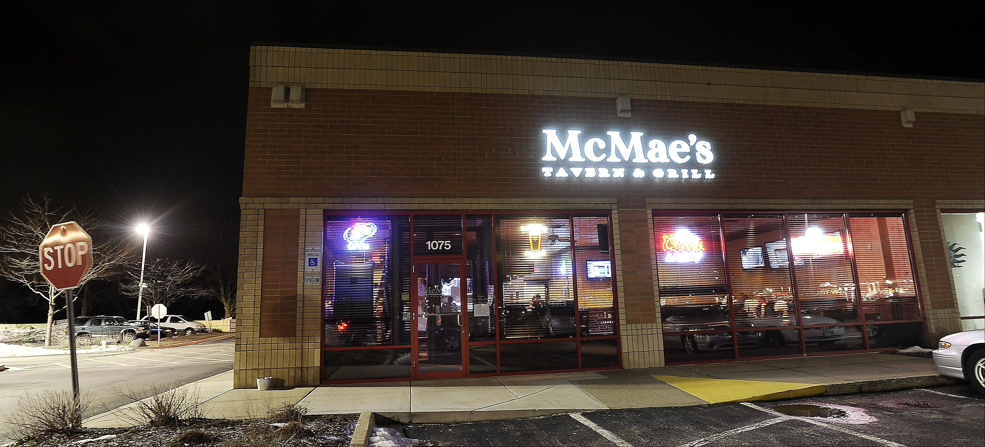 McMae's Tavern & Grill attracts people looking for a good meal or a place to watch the game.
