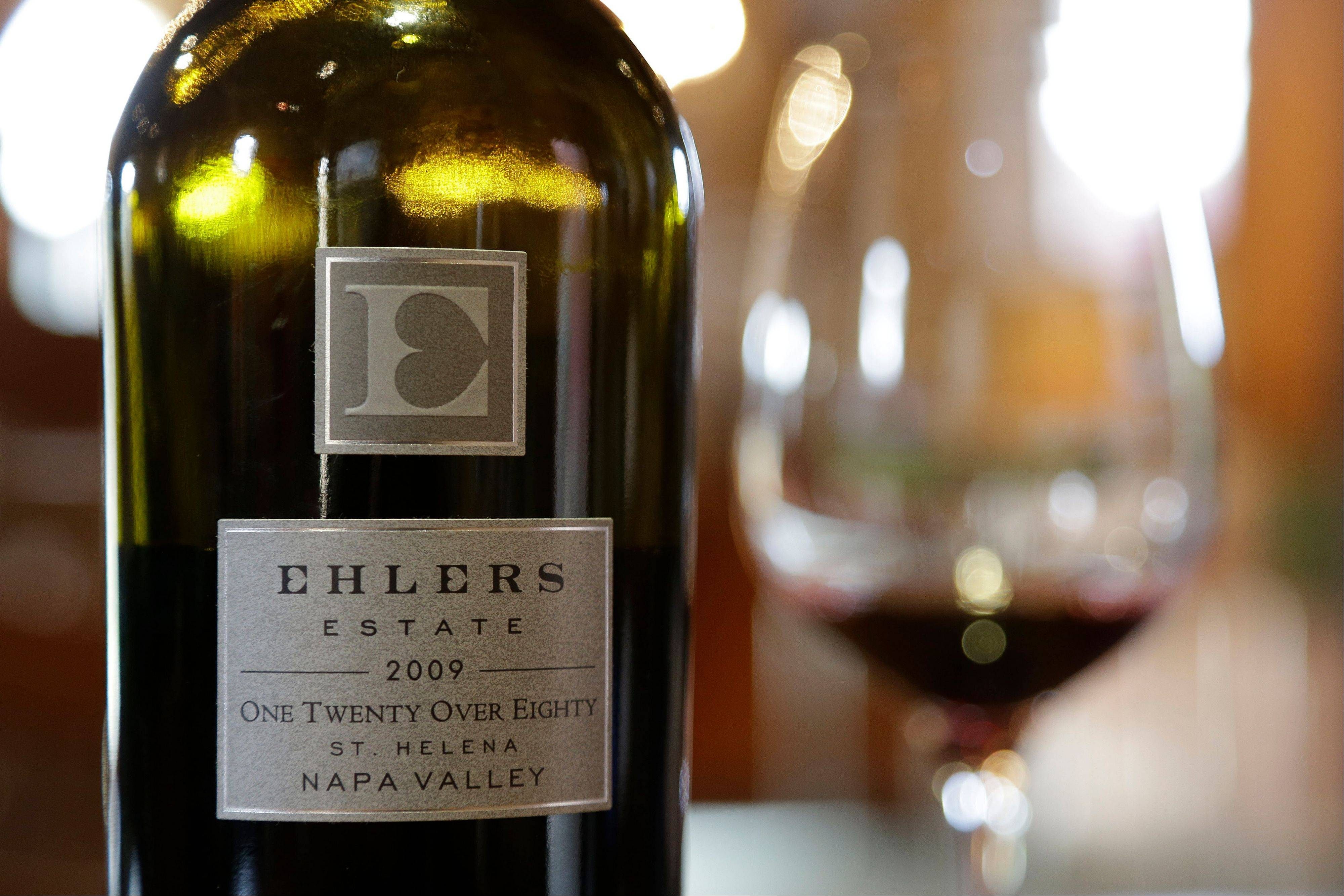 Associated PressOne Twenty Over Eighty red wine is produced by Ehler's Estate in St. Helena, Calif. Proceeds from the winery's sales go to the Leducq Foundation which continues to award more than $30 million annually to directly support international cardiovascular research.