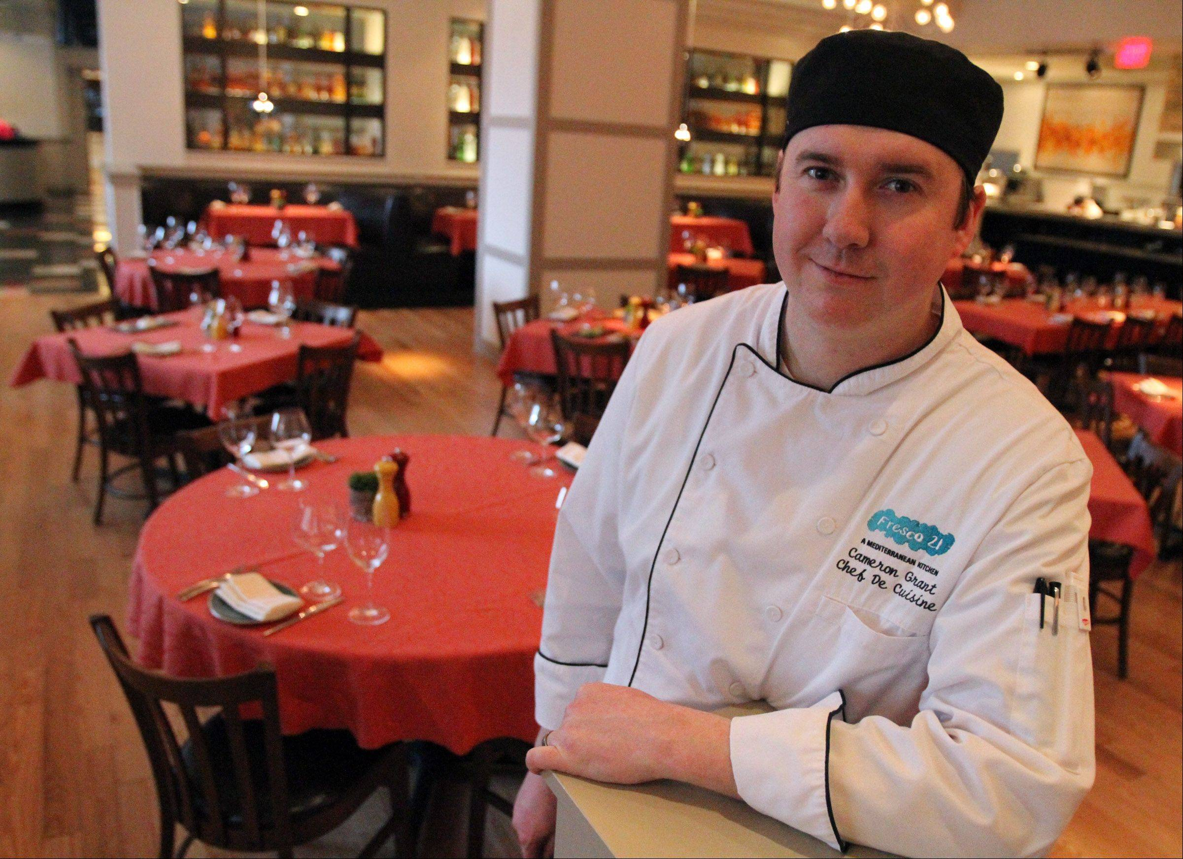 Chef de Cuisine Cameron Grant runs the kitchen at Fresco 21 in Rosemont.