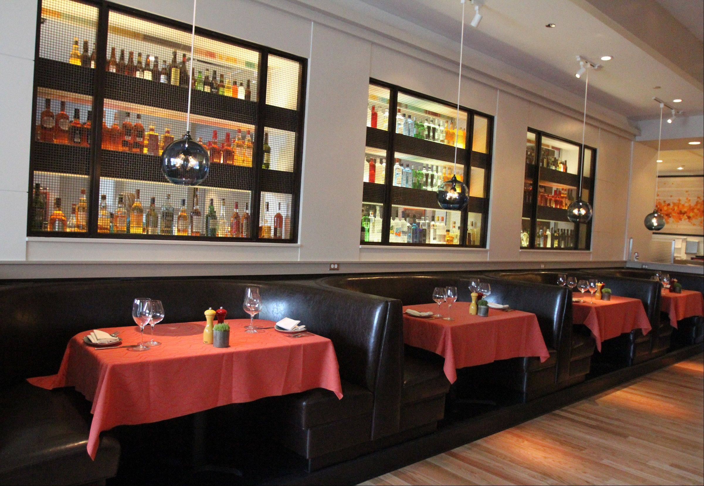 The dining room at Fresco 21 is spacious; the bar is more intimate.