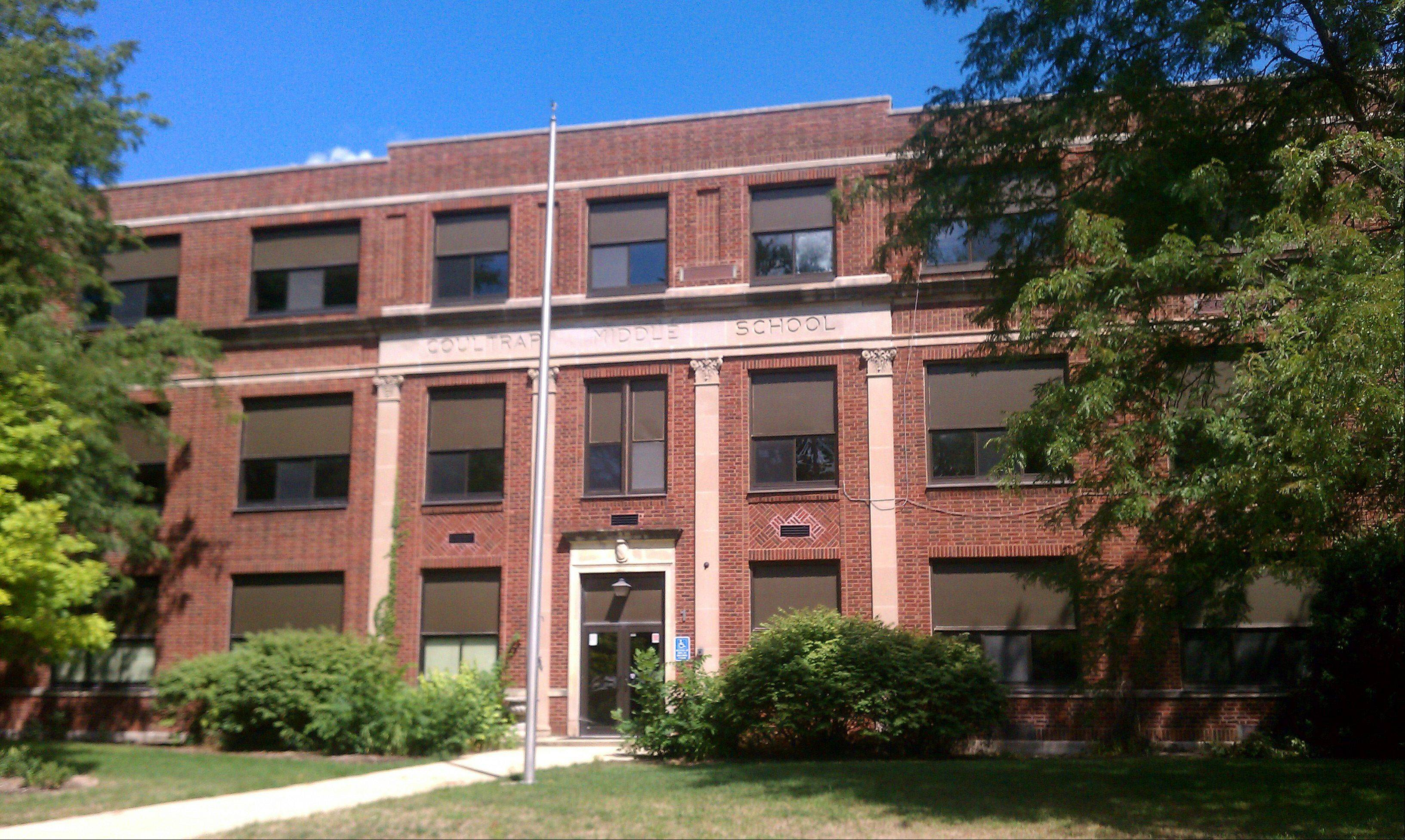 The shuttered Coultrap Elementary School in Geneva seen in August 2012. It was last used by students in 2009.