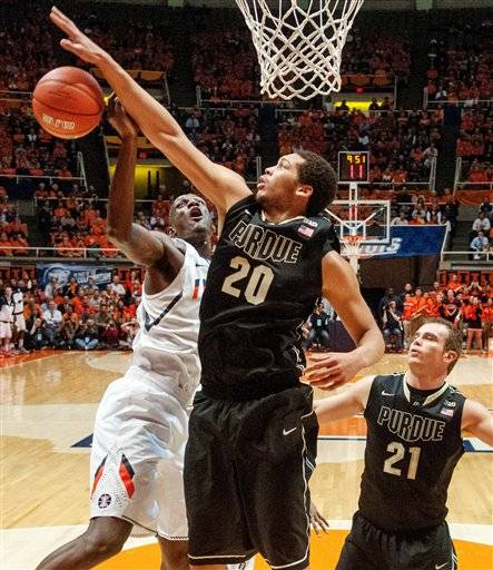 D.J. Richardson scored 18 points and Illinois opened up a big first-half lead that buried Purdue 79-59 on Wednesday night. The win was the third straight for Illinois (18-8, 5-7 Big Ten), which is clawing its way back into the postseason picture. The other wins were resume-builders over No. 1 Indiana and then-No. 18 Minnesota.