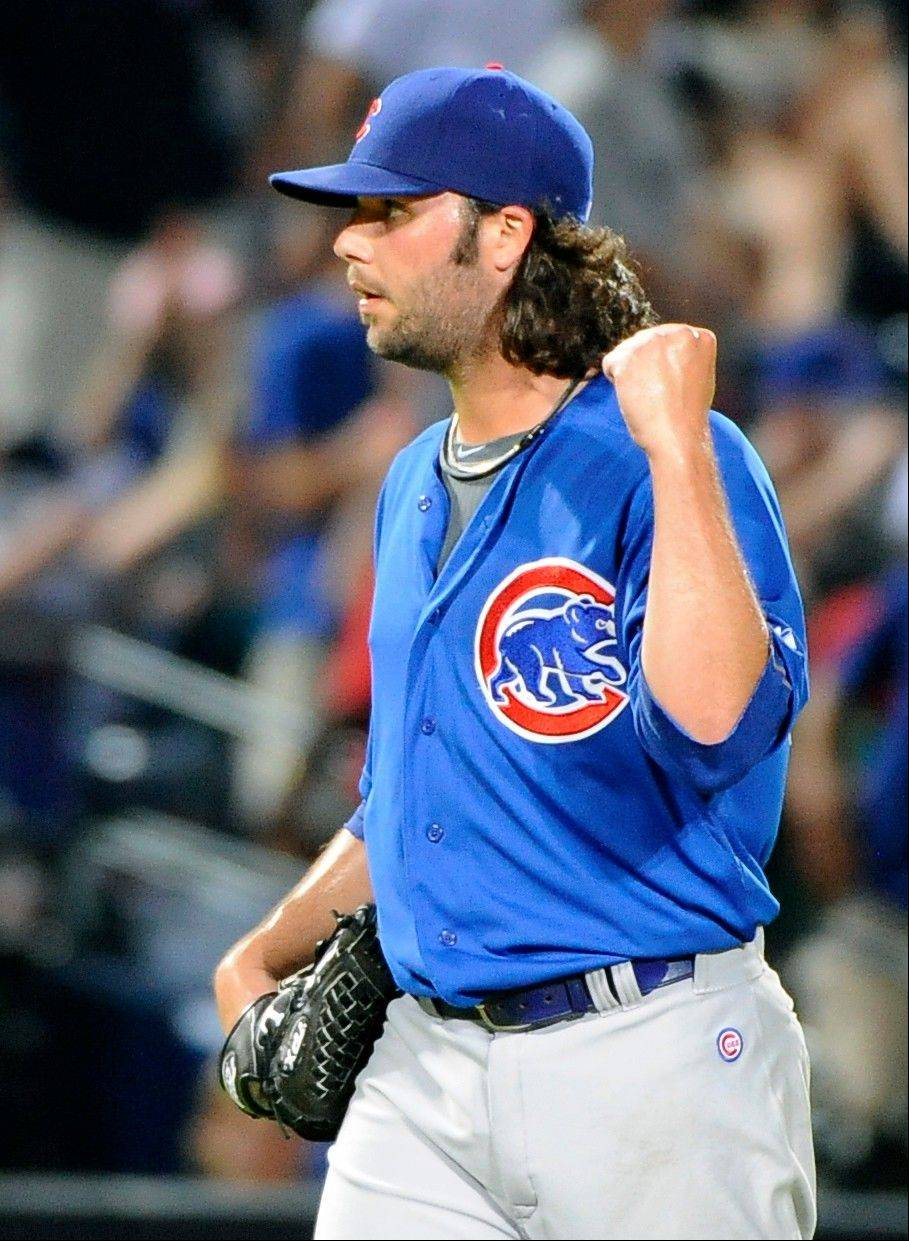 Associated Press Chicago Cubs relief pitcher James Russell reacts after the final out against the Atlanta Braves in the ninth inning of their baseball game in July at Turner Field in Atlanta. Chicago won 4-1.