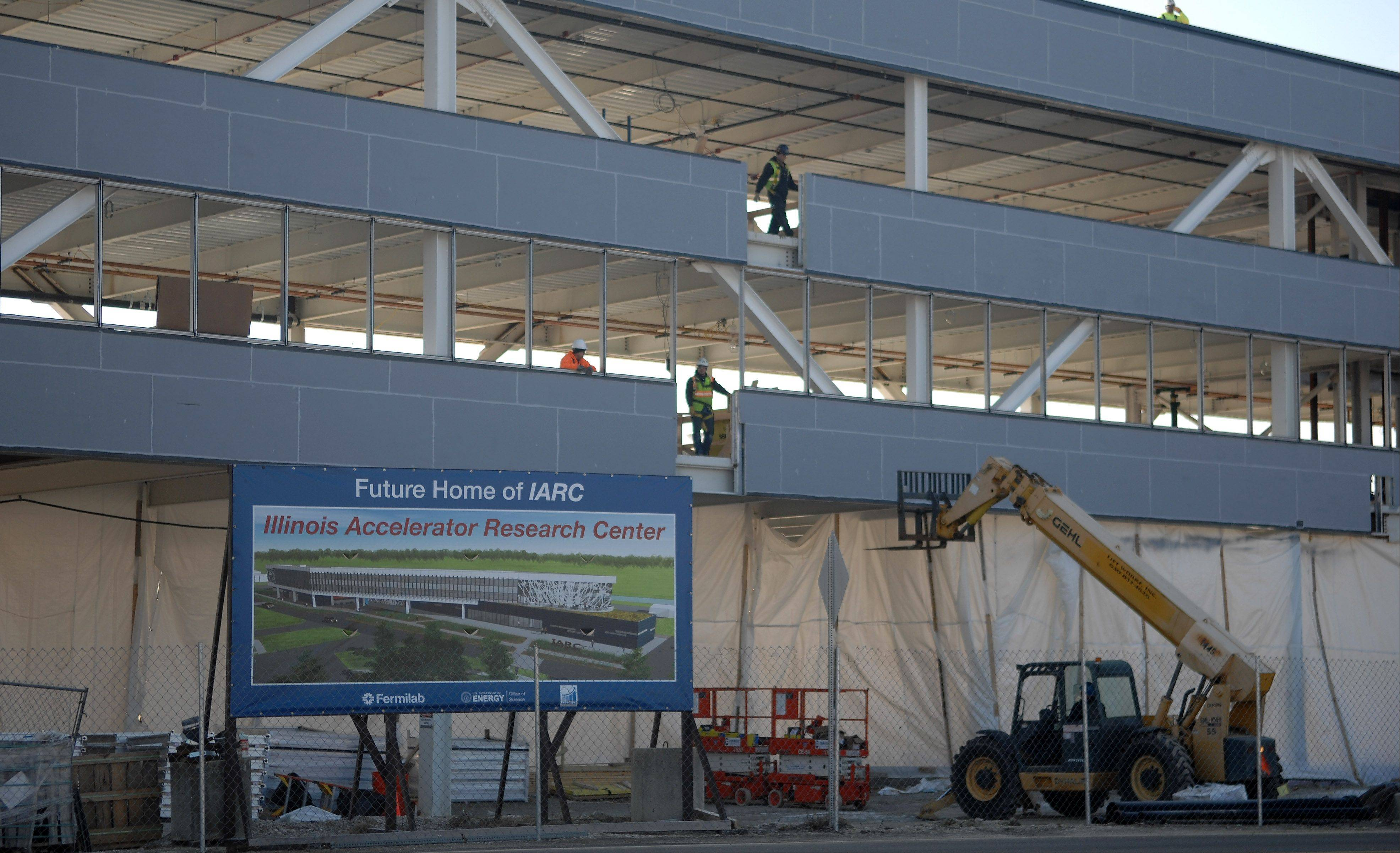 Construction continues Wednesday on the Illinois Accelerator Research Center at Fermilab in Batavia. The federal laboratory is the subject of a new documentary, �Fermilab: Science At Work.�