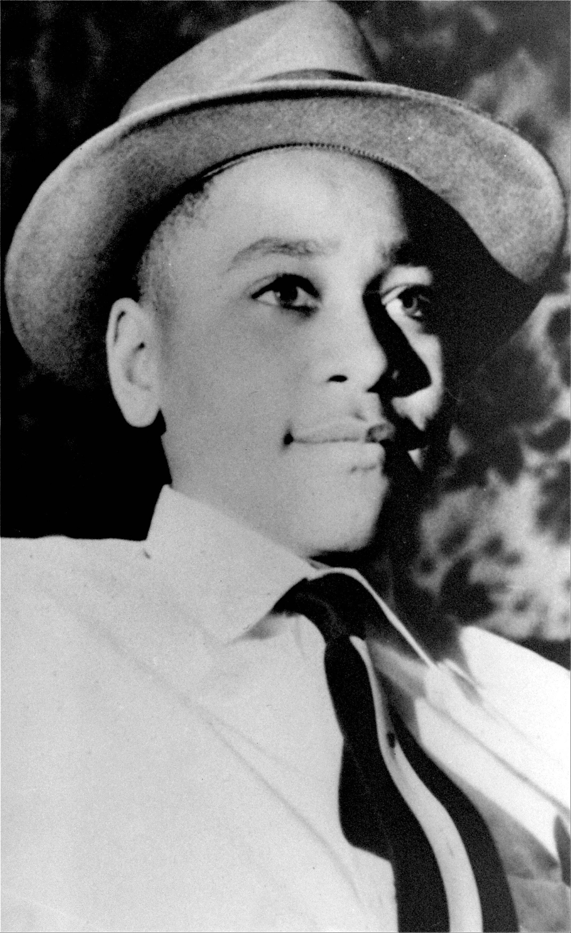 This file photo shows Emmett Till, a black 14-year-old Chicago boy, who was brutally murdered near Money, Mississippi, Aug. 31, 1955.