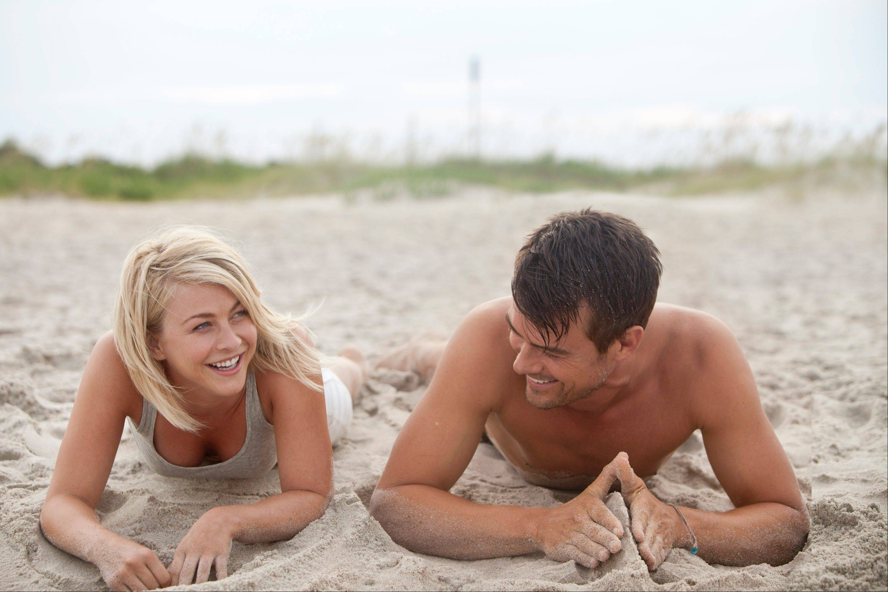 "Katie (Julianne Hough) has a secret and Alex (Josh Duhamel) has a secret crush on her in the Nicholas Sparks inspired drama ""Safe Haven."""