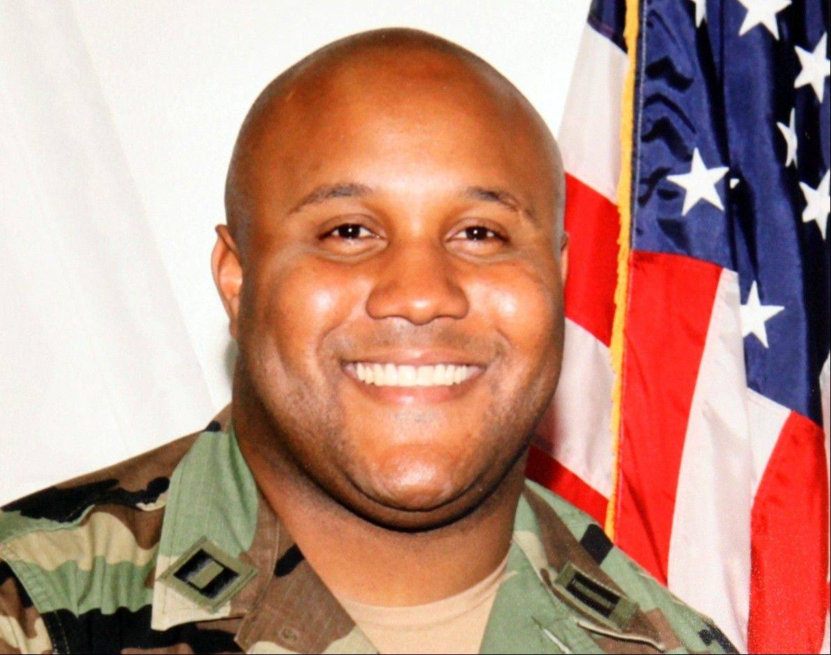 FILE - This undated file photo provided by the Los Angeles Police Department shows fugitive former Los Angeles police officer Christopher Dorner. Officials say the burned remains found in a California mountain cabin have been positively identified as Dorner's. San Bernardino County Sheriff�s spokeswoman Jodi Miller said Thursday, Feb. 14, 2013 that the identification was made through Dorner�s dental records.