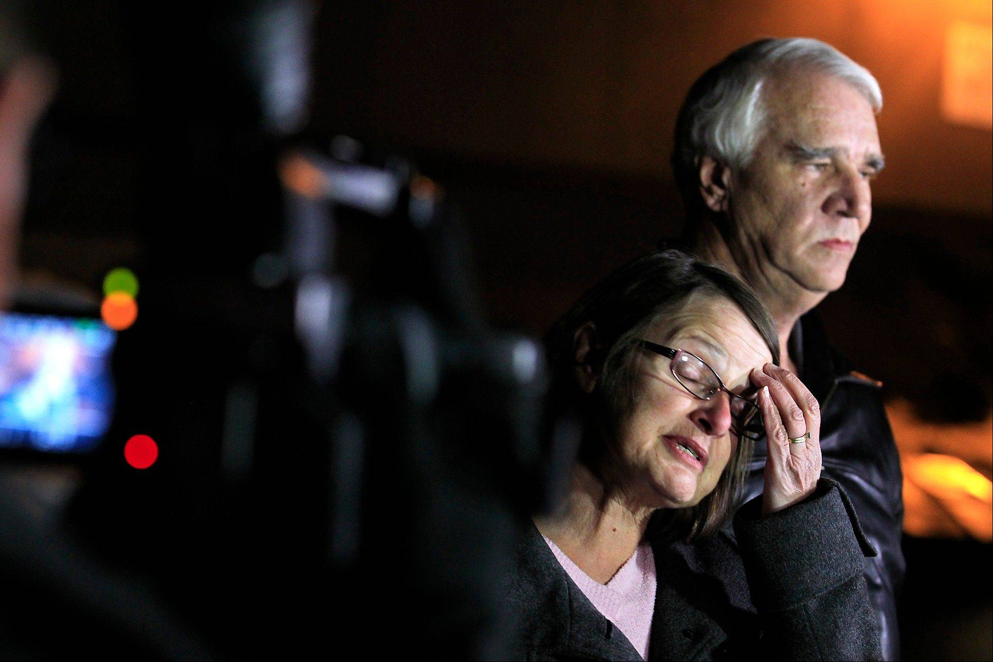 Jim Reynolds, 66, right, and wife, Karen Reynolds 57, were held captive by fugitive Christopher Dorner inside a condo at Mountain Vista Resort. The couple said Dorner bound them, put pillow cases over their heads and fled in their purple Nissan. When he did, Karen Reynolds managed to get to her cellphone and call 911.