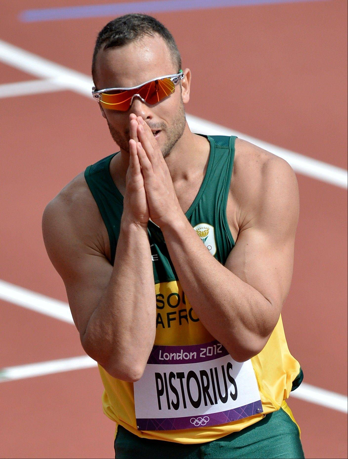 South Africa's Oscar Pistorius in the Olympic Stadium at the 2012 Summer Olympics, London Paralympic superstar Oscar Pistorius was charged Thursday Feb. 14. 2013 with the murder of his girlfriend who was shot inside his home in South Africa.