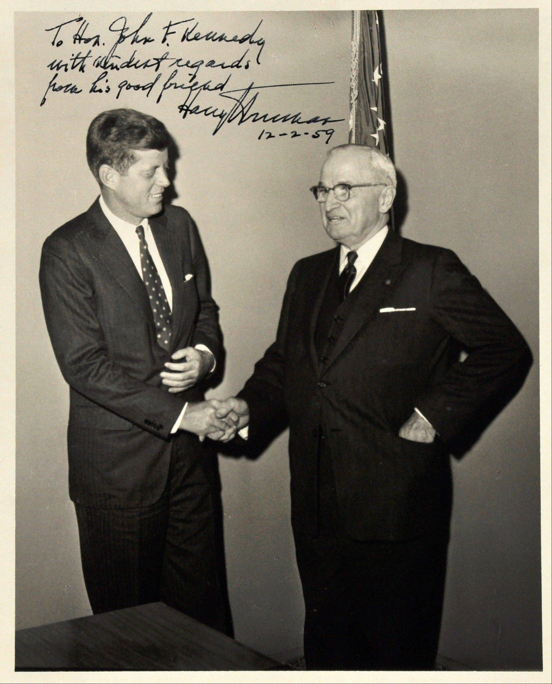 Presidents John F. Kennedy and Harry Truman.