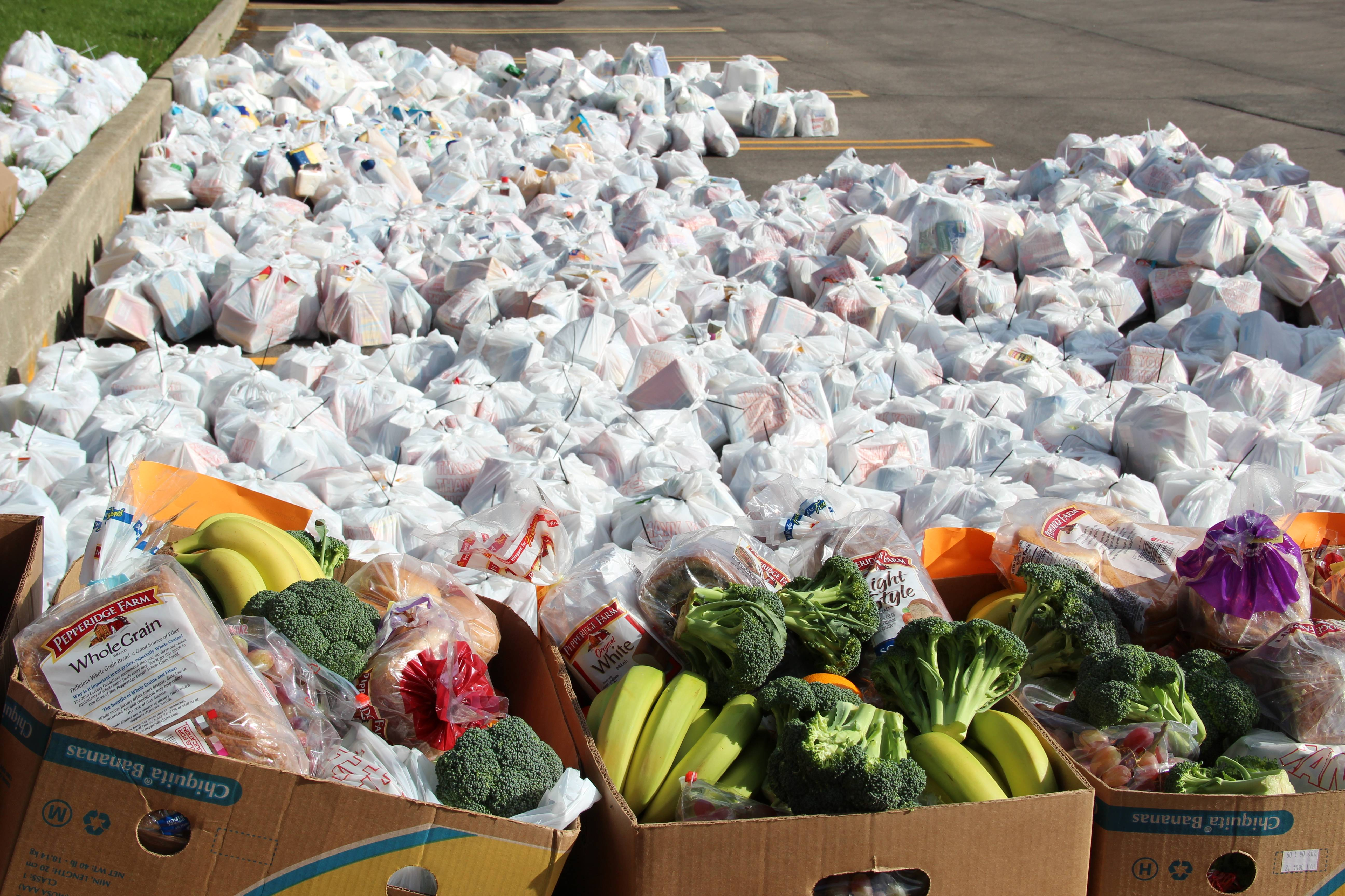 Produce and non-perishables arranged to be delivered to needy seniors served by HSP.
