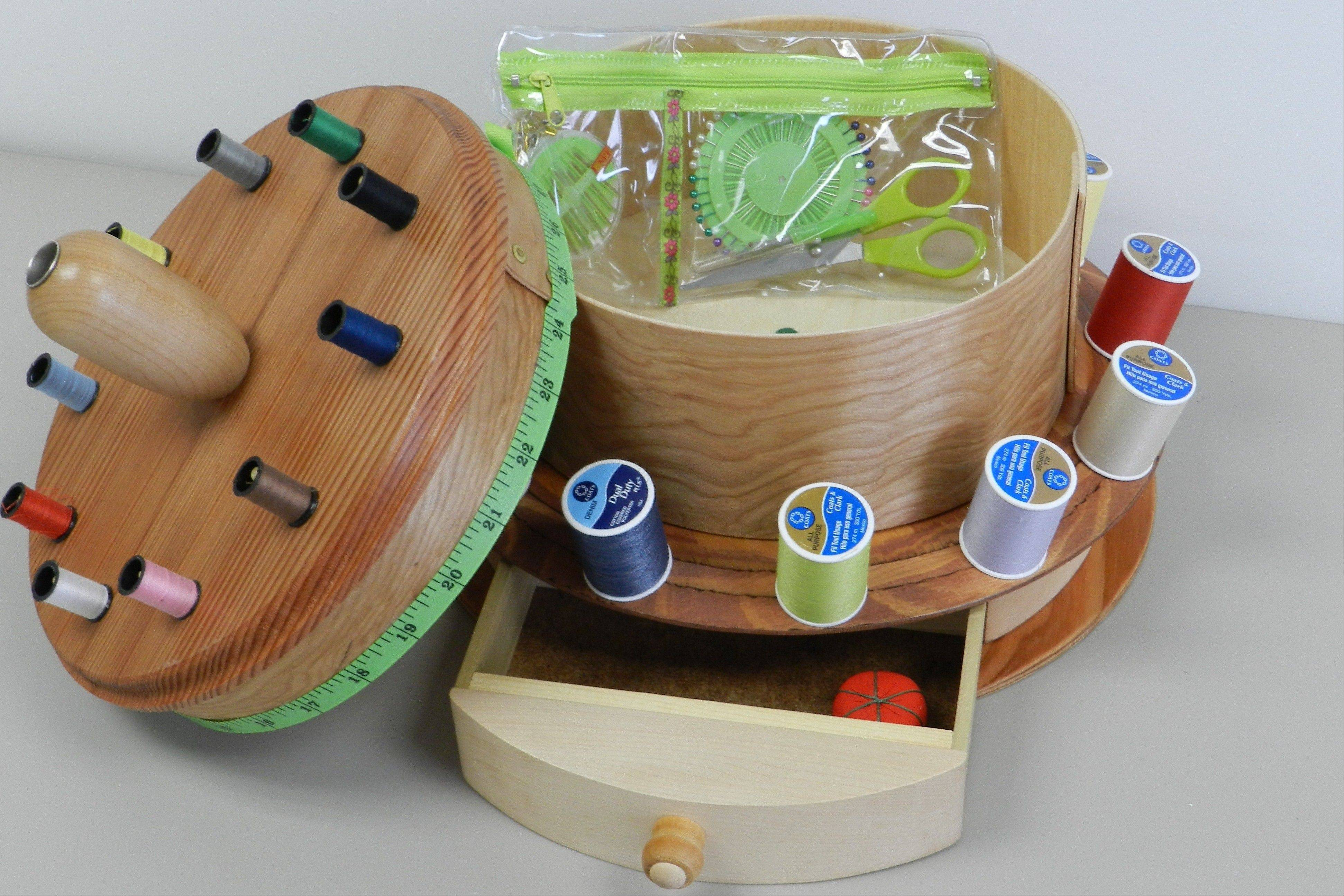 "A ""Sewing Box"" is up for bid at Huntley Library Friends auction."