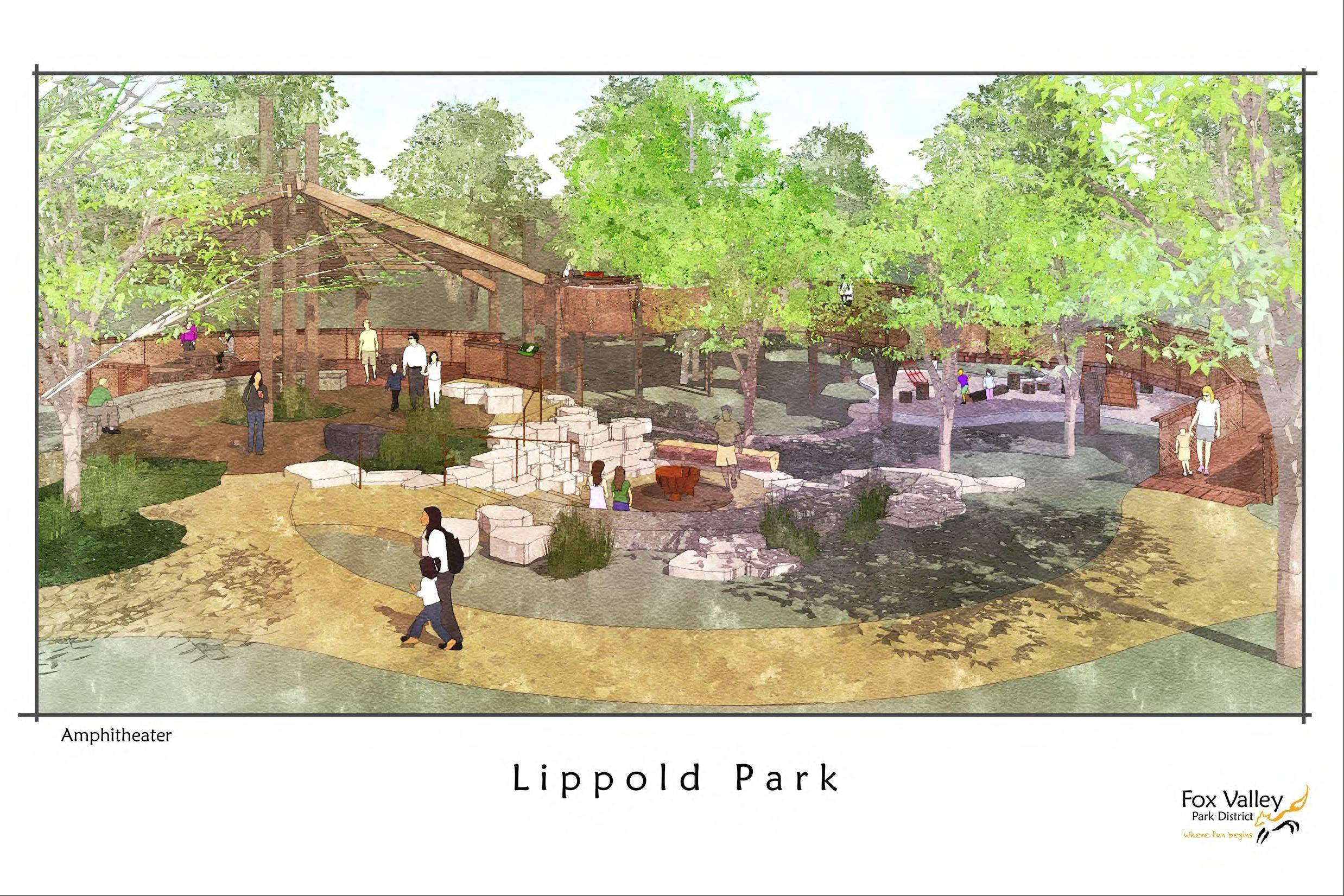The Lippold Park project will include construction of a tree house-like structure in an amphitheater setting with interpretive displays and observation areas.