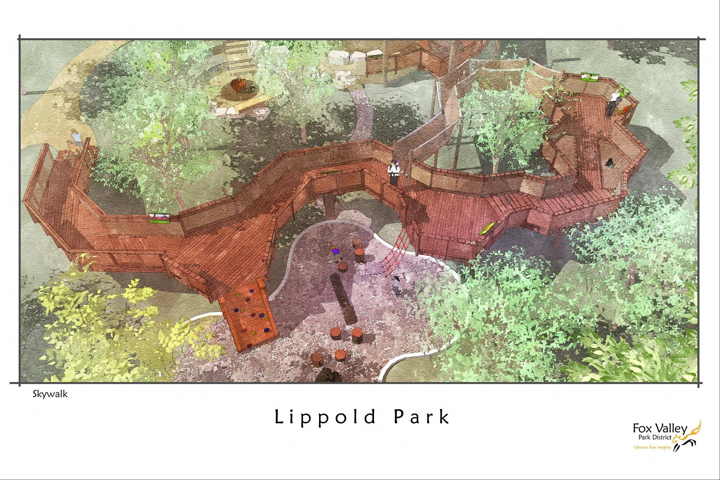 Lippold Park's improvement plans feature an accessible skywalk that will run around a portion of the perimeter.