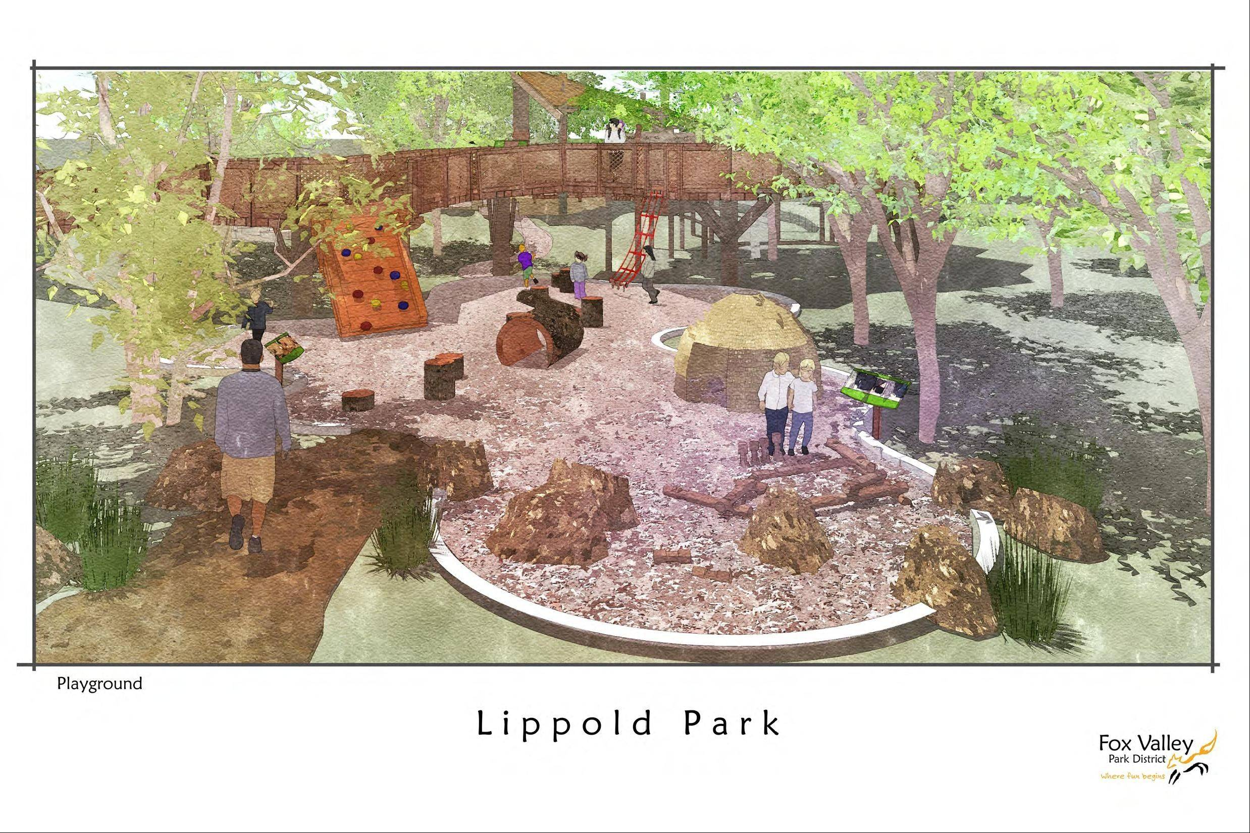 A nature-based playground area for children will be a feature of the new outdoor educational venue at Lippold Park.