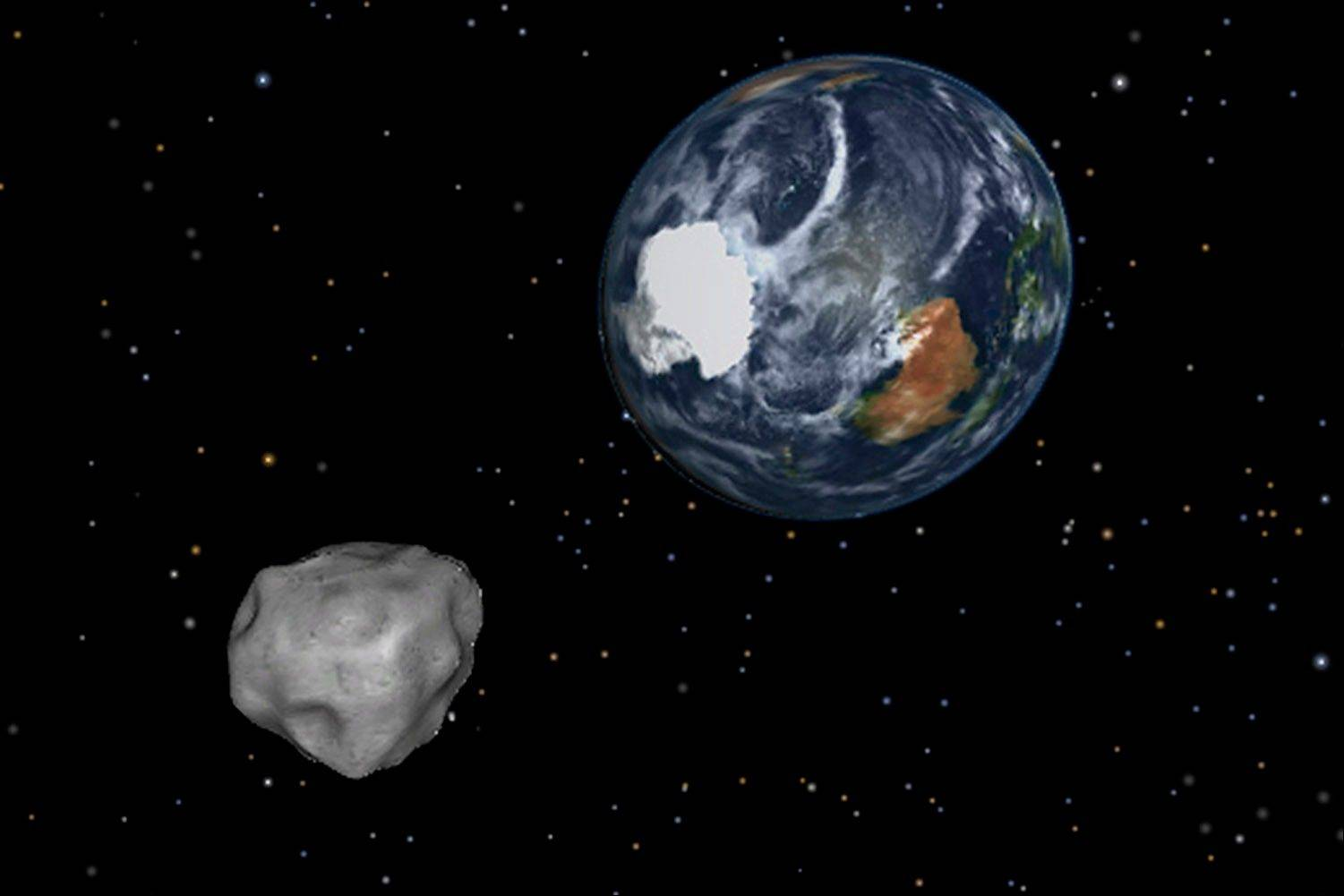 Asteroid buzzes, misses Earth -- unlike meteor